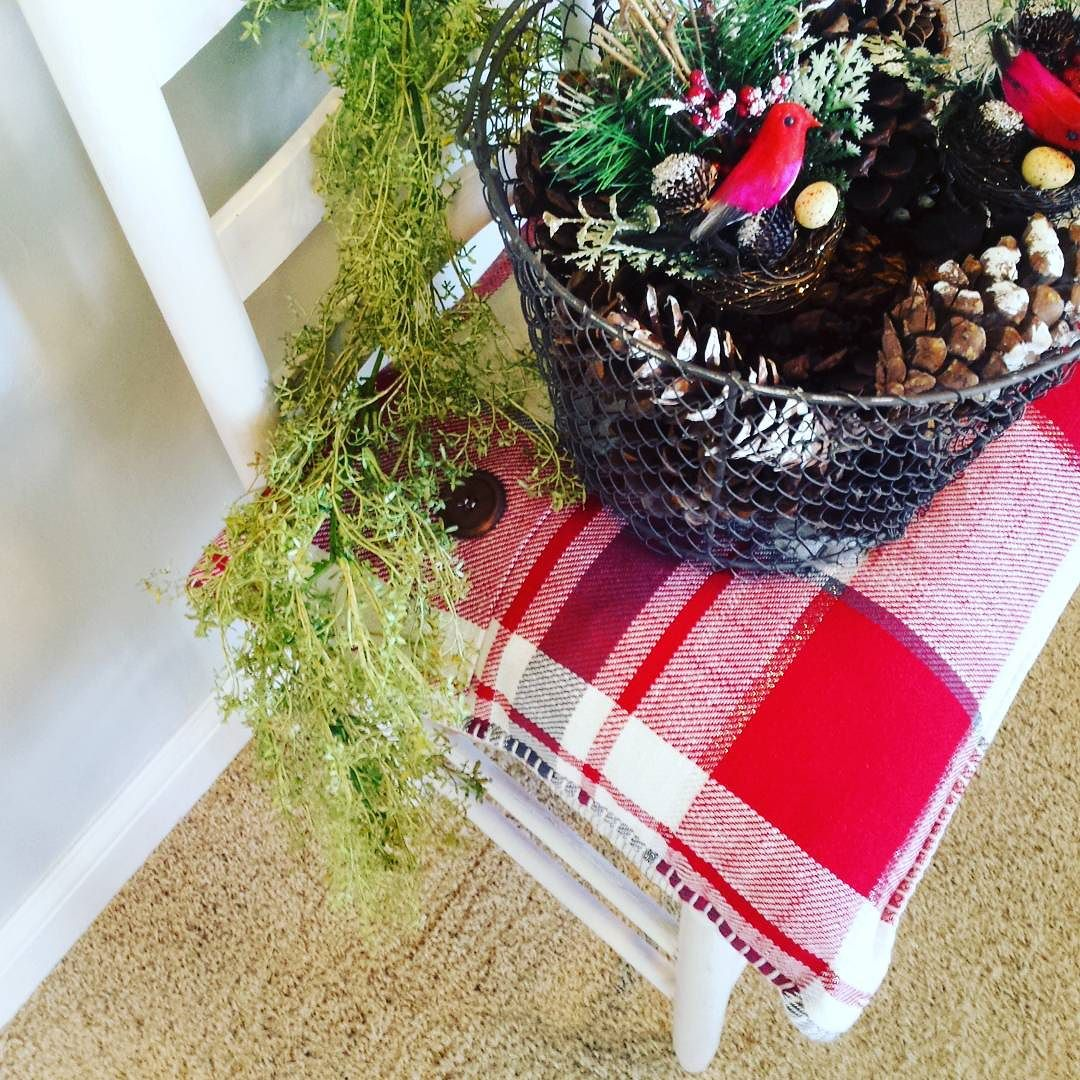 Sneak peek of what's to come.....tomorrow!  An entryway to a local business is about to take on a fresh, new wintry look! #christmasdecoration#christmasgreens#sheboygancustomfurniture#sheboygandecorator.jpg