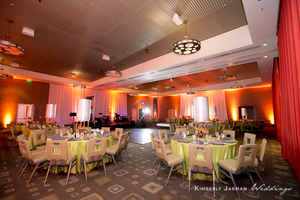 43 indoor reception green orange and red wedding colors simple reception decor Kimberly Jarman Photography Life Design Events.jpg