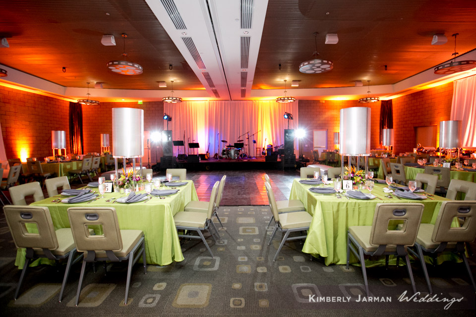 44  indoor reception green orange and red wedding colors simple reception decor Kimberly Jarman Photography Life Design Events.jpg