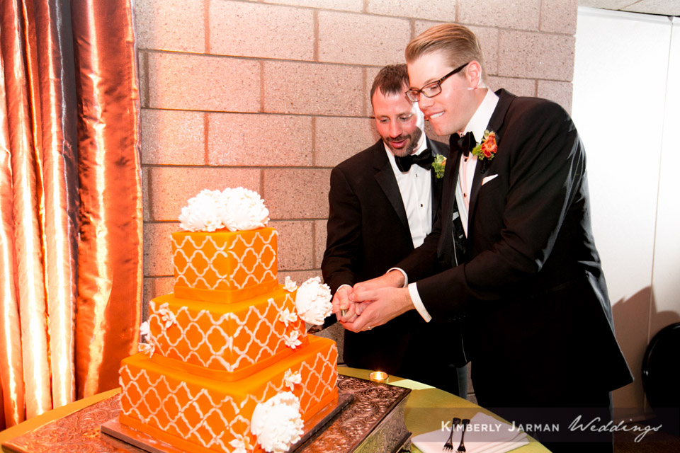 51 grooms cutting wedding cake two grooms wedding cake two grooms cutting wedding cake Kimberly Jarman Photography Life Design Events.jpg