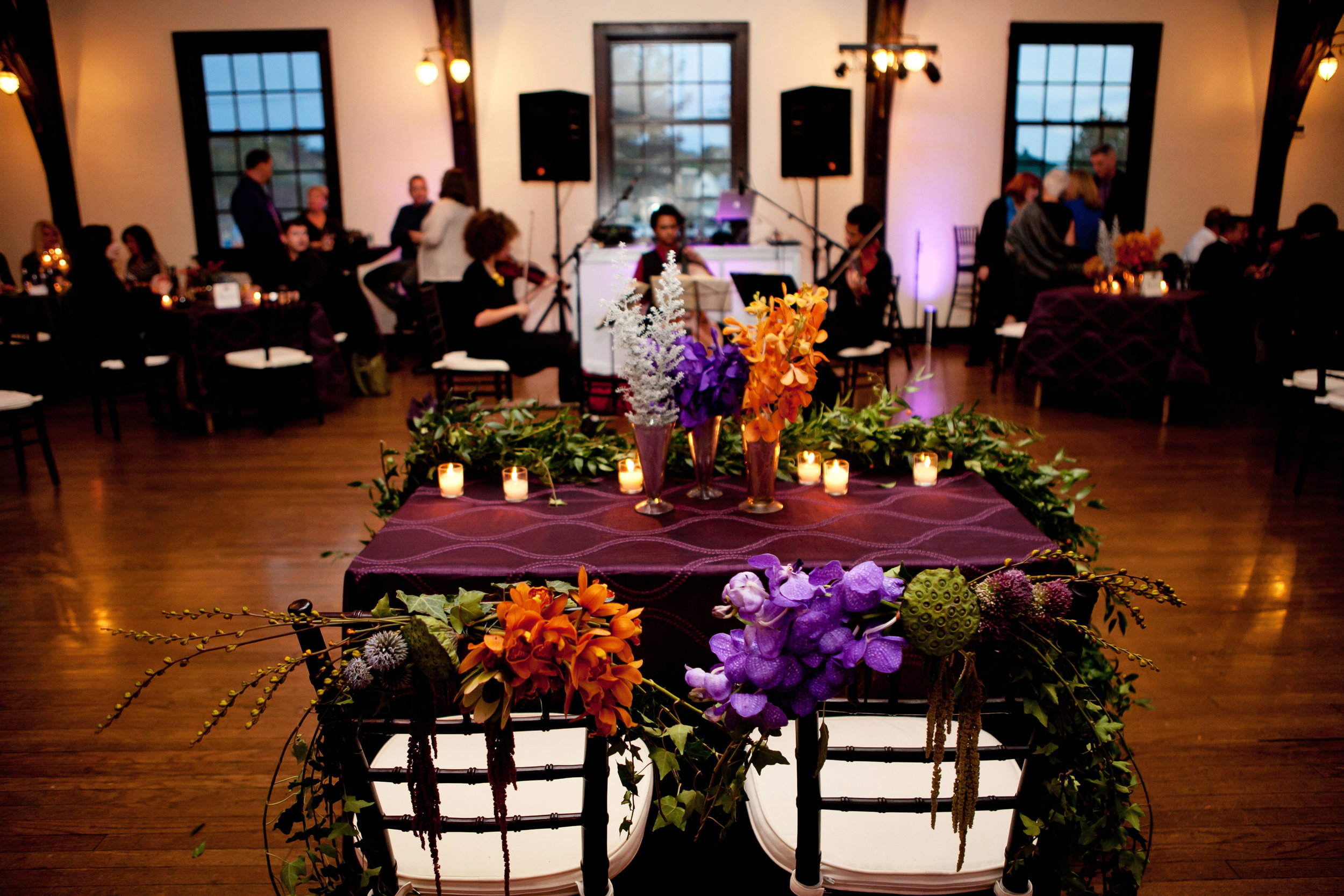 49  sweetheart table two brides sweetheart table sweetheart table decor purple and orange flowers at sweetheart table Life Design Events.jpg