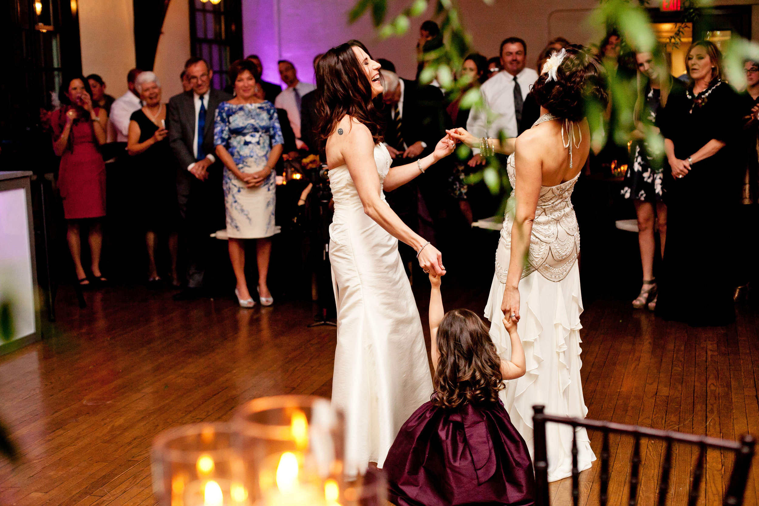 51 first dance bride and bride dancing two brides first dance brides dance with flower girl special first dance Life Design Events.jpg