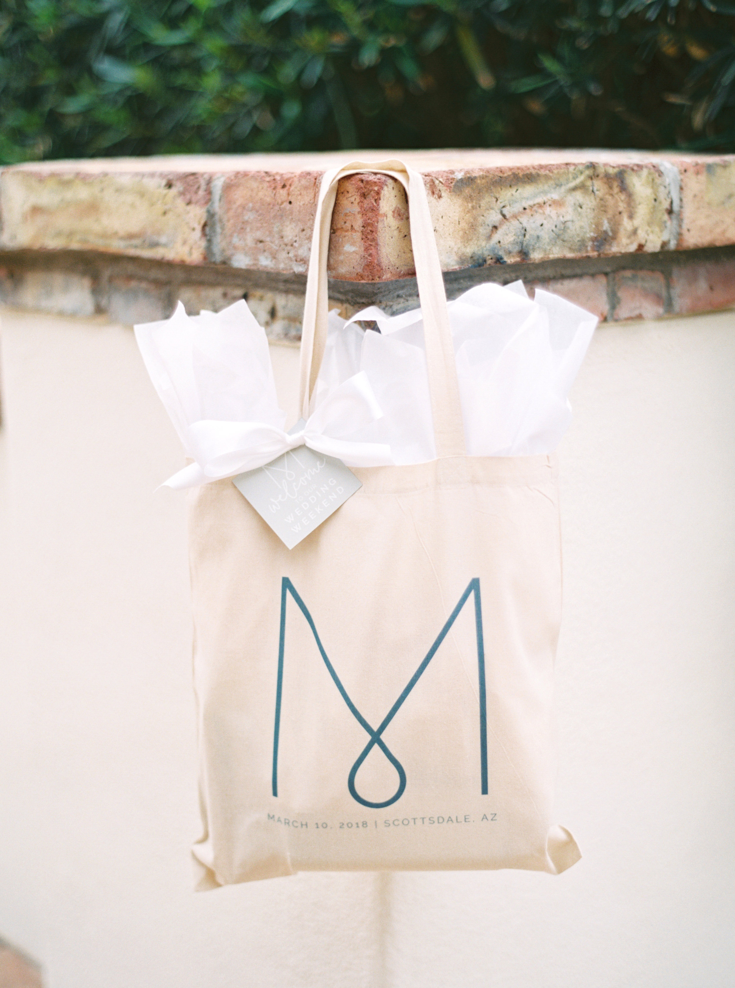 2 hotel gift bag guest welcome gift wedding welcome kit hotel welcome kit out of town wedding guests Life Design Events photos by Melissa Jill Photography.jpg