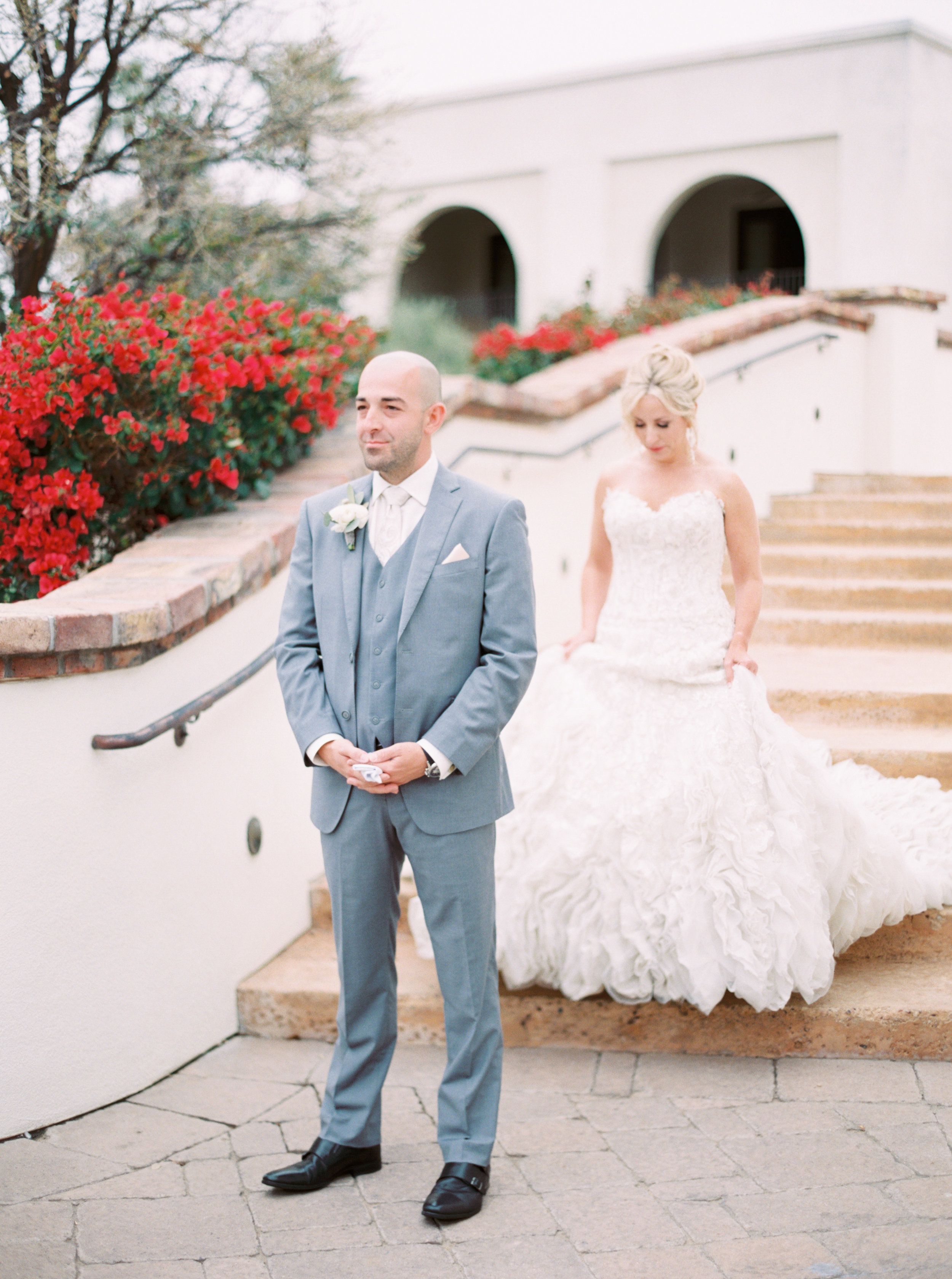 13 first look bride and groom photos before ceremony surprise anticipation groom nervous groom Life Design Events photos by Melissa Jill Photography.jpg