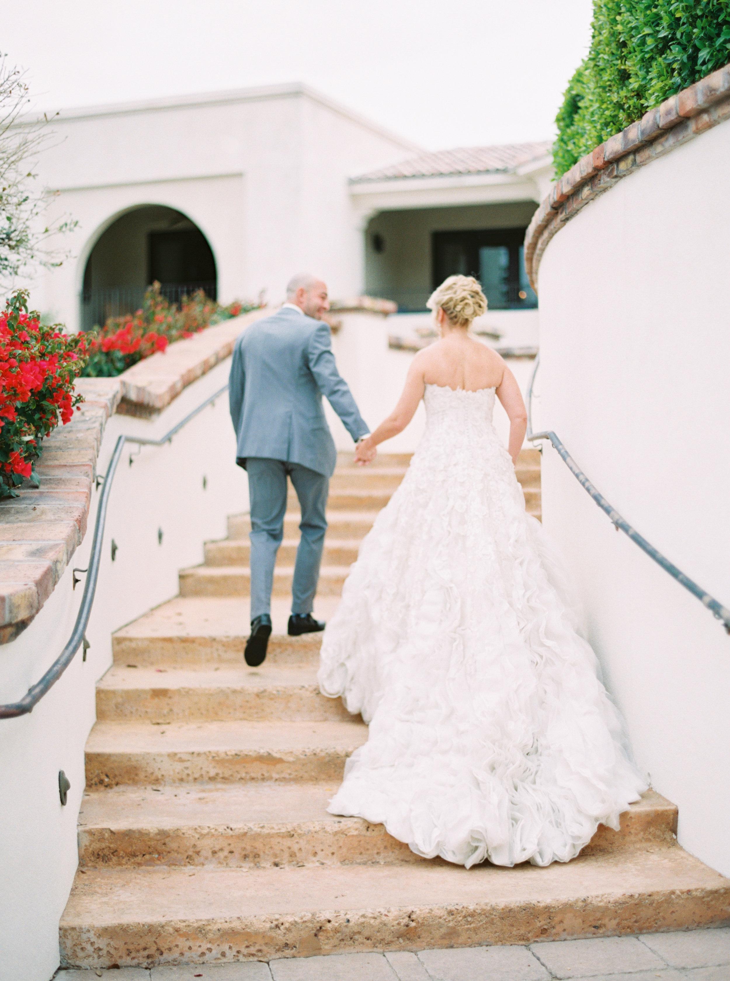 17 bride groom leaving first look photos before ceremony Life Design Events photos by Melissa Jill Photography.jpg