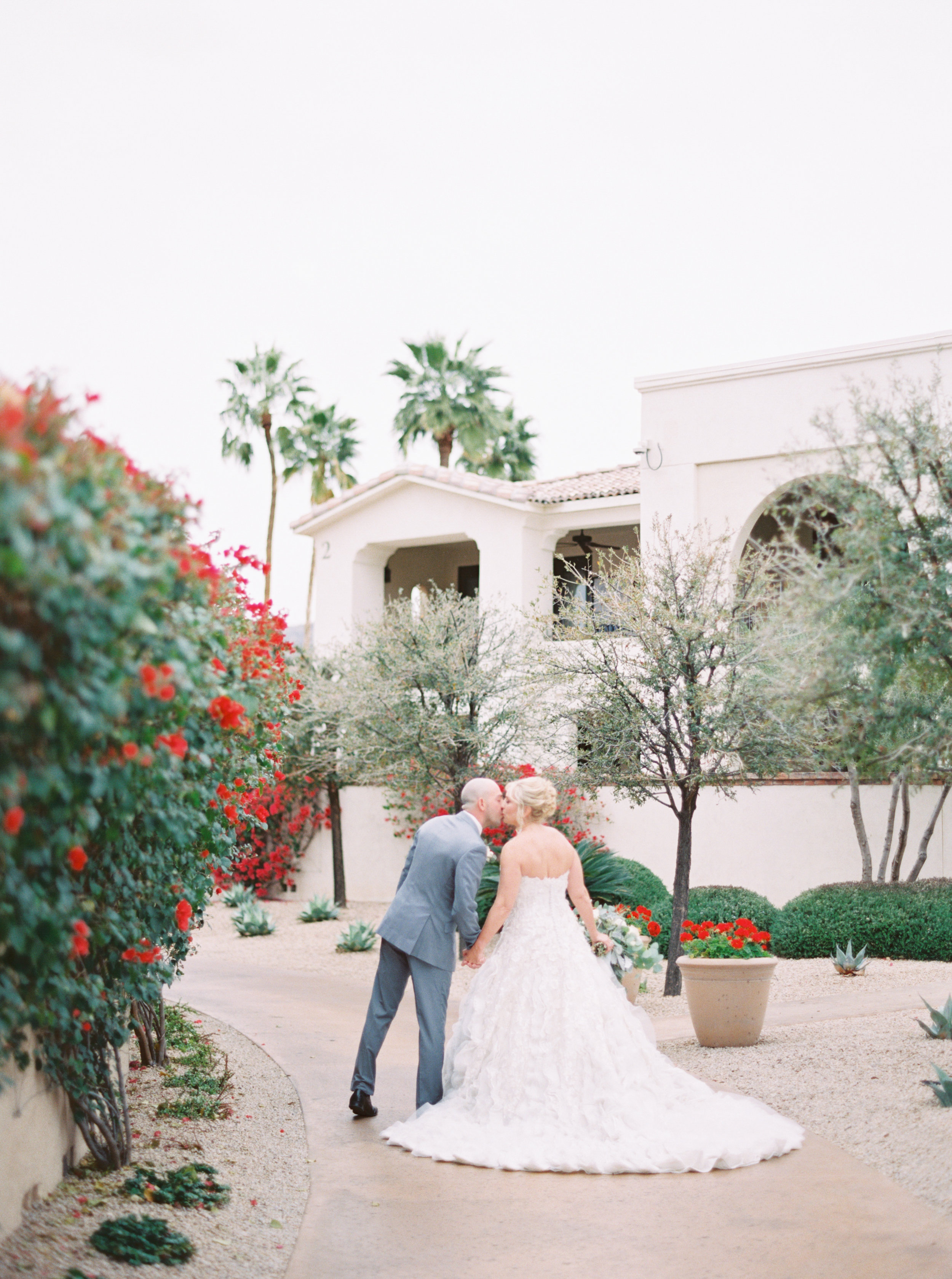 19 bride groom kiss first look photos before ceremony resort wedding photos wedding portraits couple photo session Life Design Events photos by Melissa Jill Photography.jpg