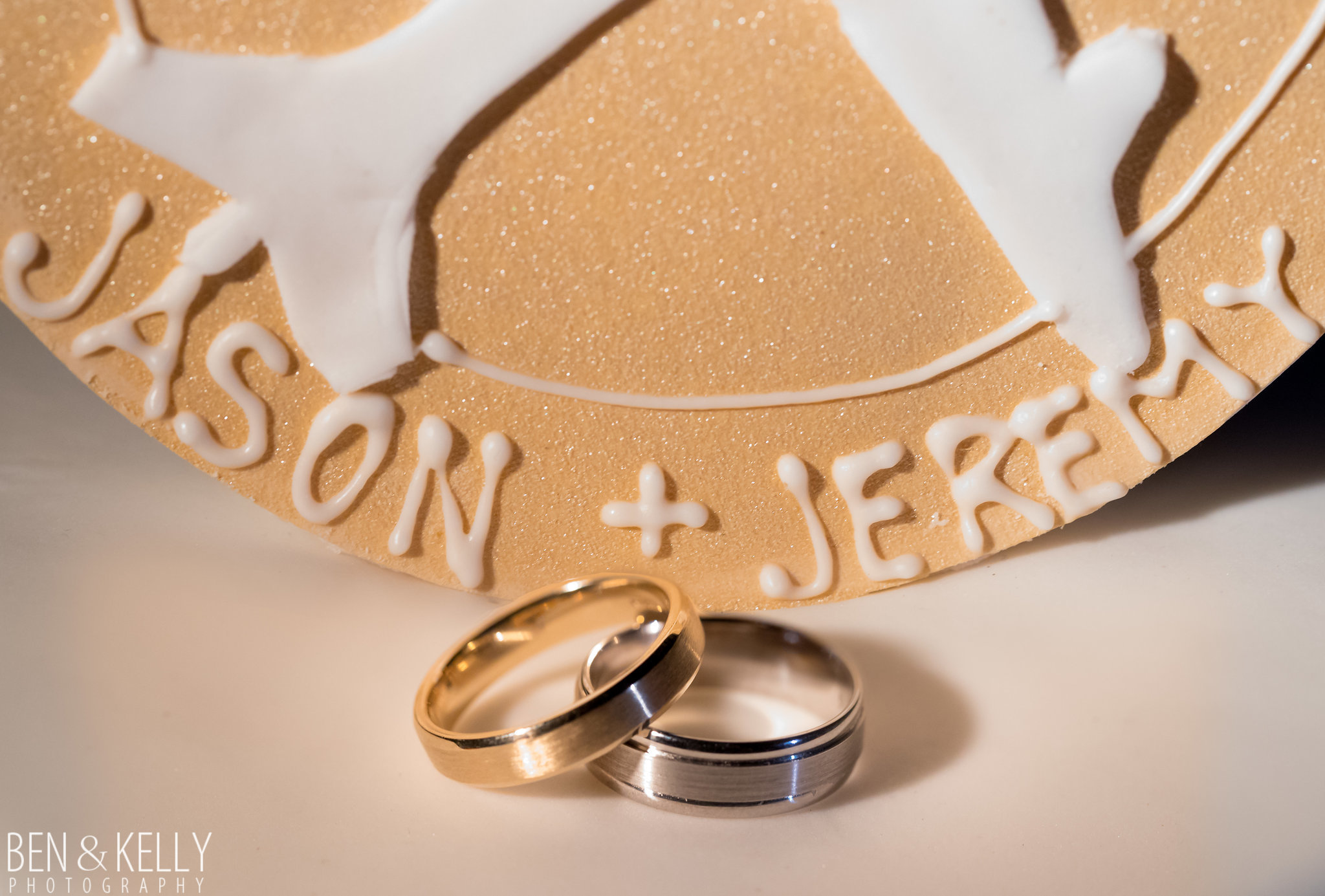 1a wedding rings groom rings wedding bands personalized wedding cake gold and silver wedding band Life Design Events photo by Ben and Kelly Photography.jpg