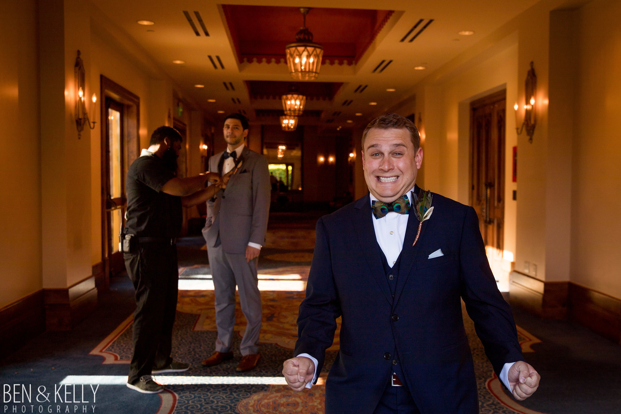 11 excited groom waiting to walk down aisle wedding anticipation walking down the aisle Life Design Events photo by Ben and Kelly Photography.jpg