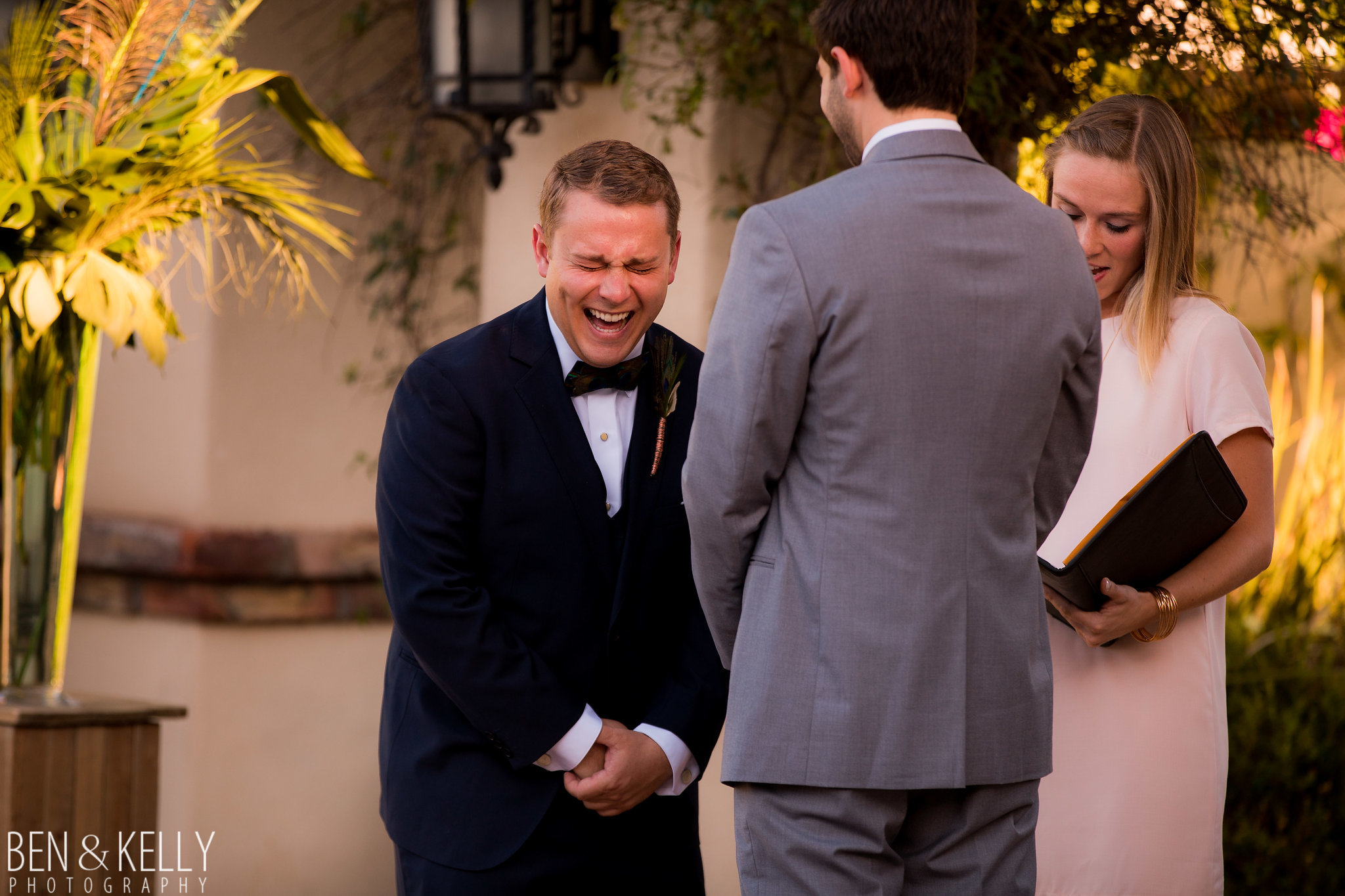 15 funny vows laughing groom wedding ceremony friend officiant Life Design Events photo by Ben and Kelly Photography.jpg