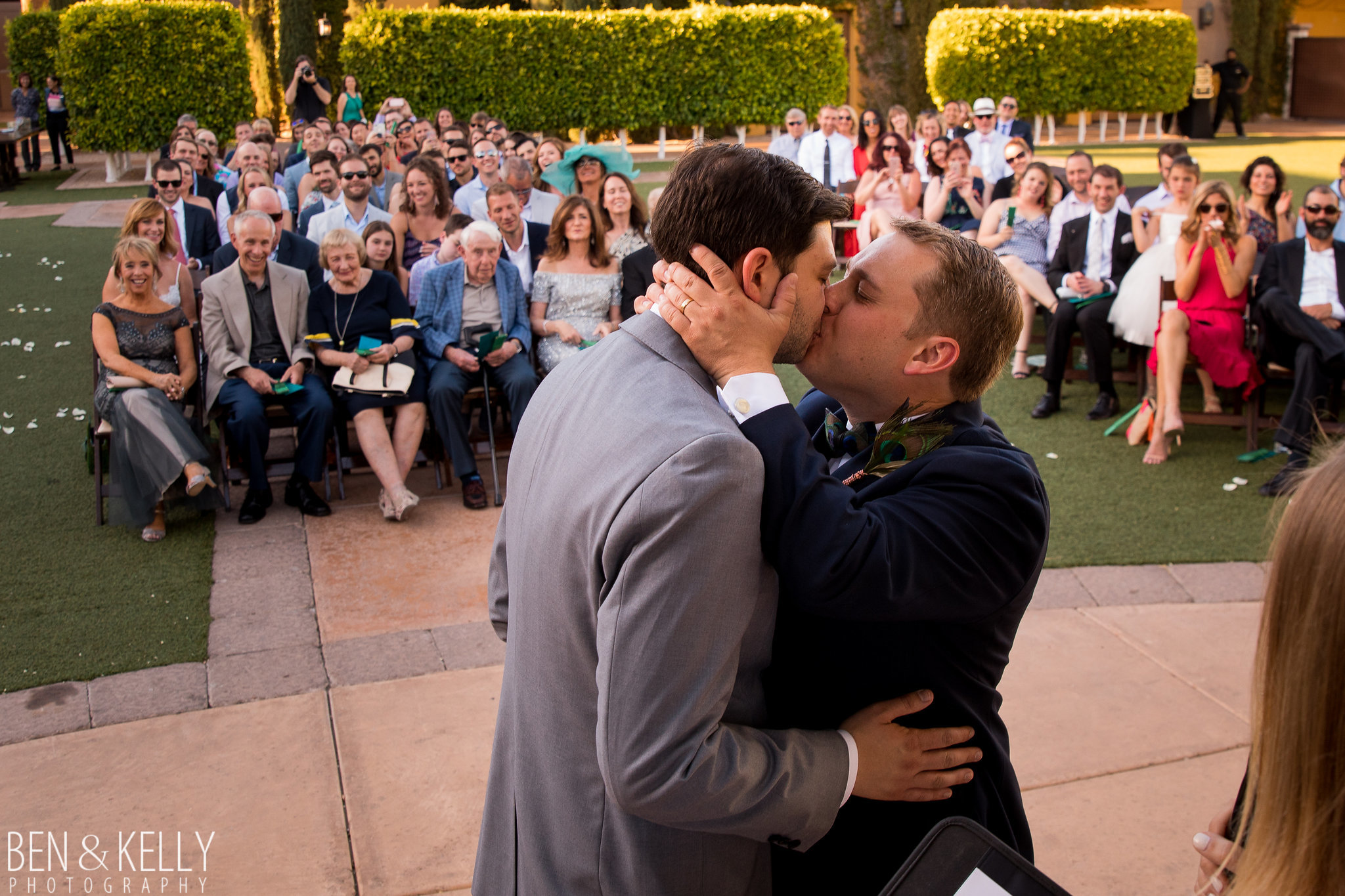 16 wedding kiss grooms kiss wedding ceremony seal the deal sealed with a kiss Life Design Events photo by Ben and Kelly Photography.jpg