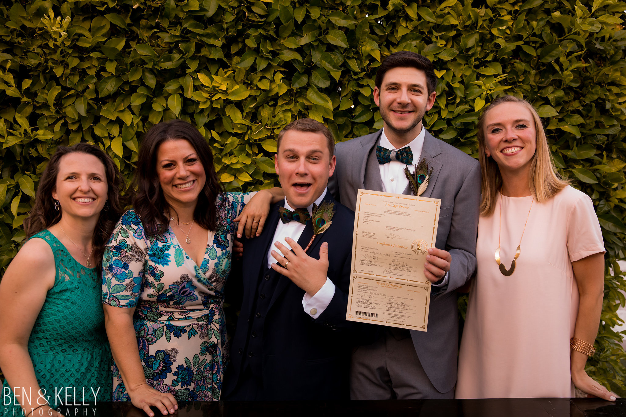 18 marriage license wedding planner signs license friend officiant two grooms make it legal Life Design Events photo by Ben and Kelly Photography.jpg