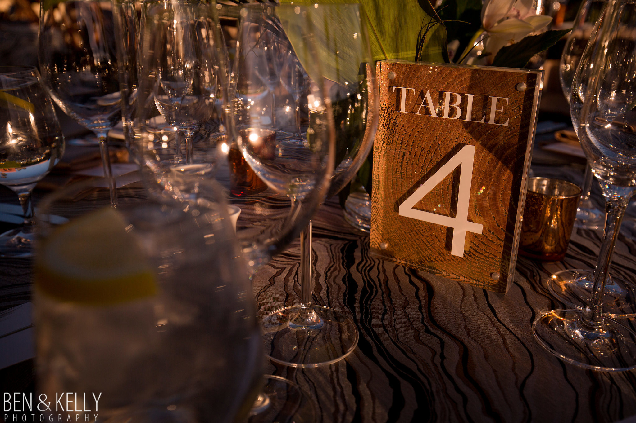 31 table number wedding reception table wood grain table number acrylic frame table number neutral wedding colors Life Design Events photo by Ben and Kelly Photography.jpg