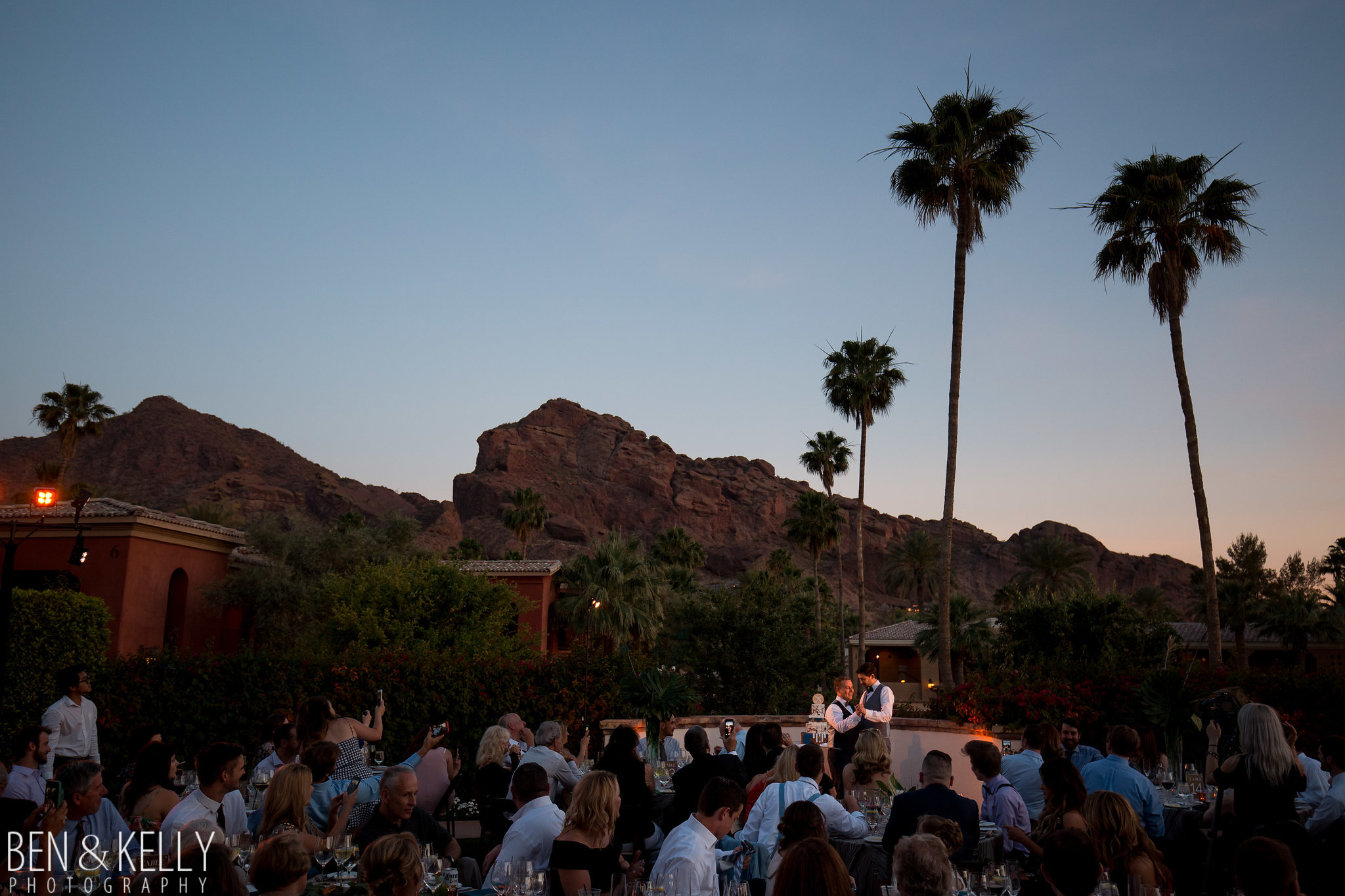 32 first dance sunset first dance camelback mountain omni scottsdale montelucia wedding Life Design Events photo by Ben and Kelly Photography.jpg