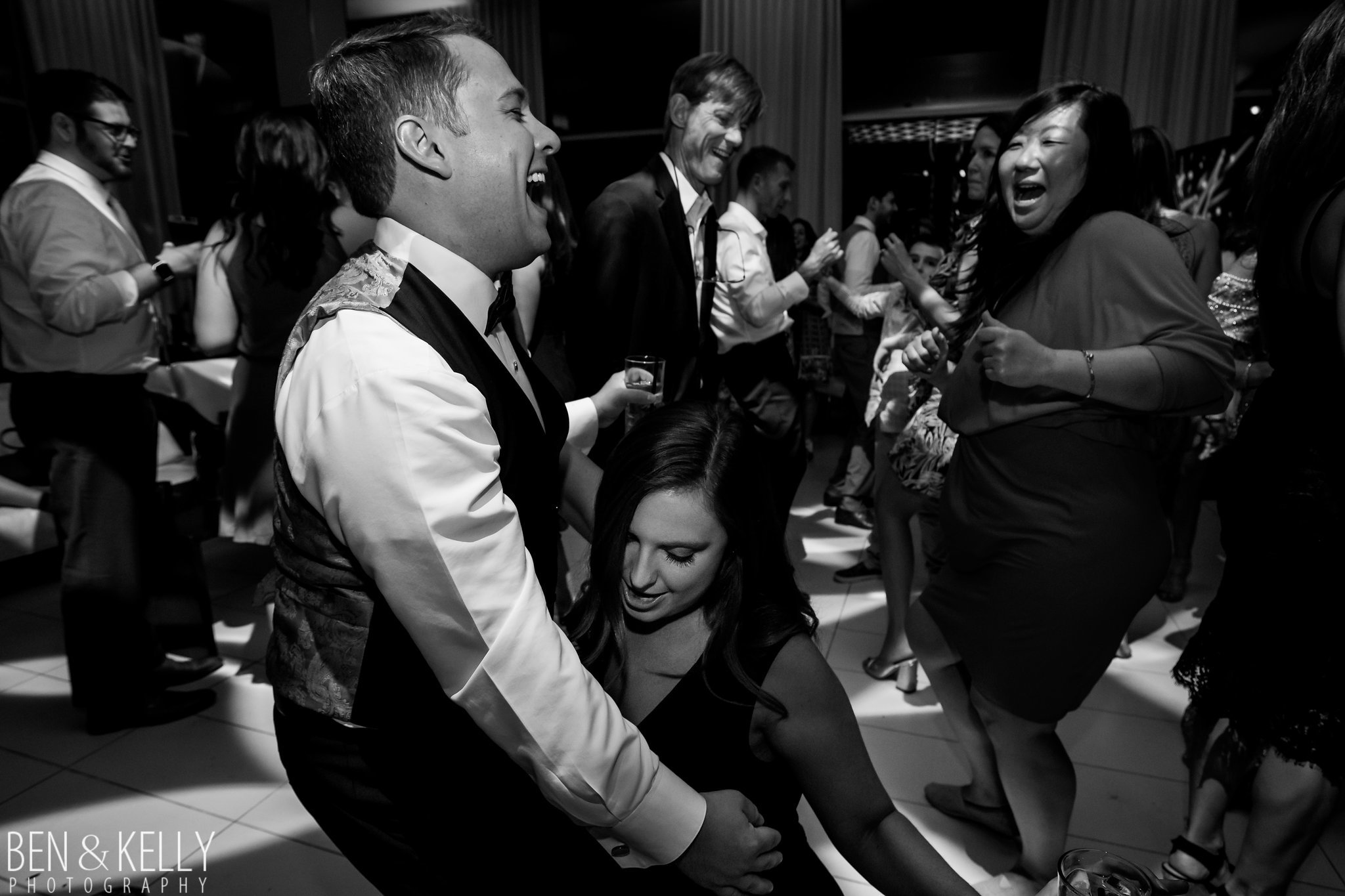 40 wedding after party wedding dance party groom dancing groom laughing wedding dance club Life Design Events photo by Ben and Kelly Photography.jpg