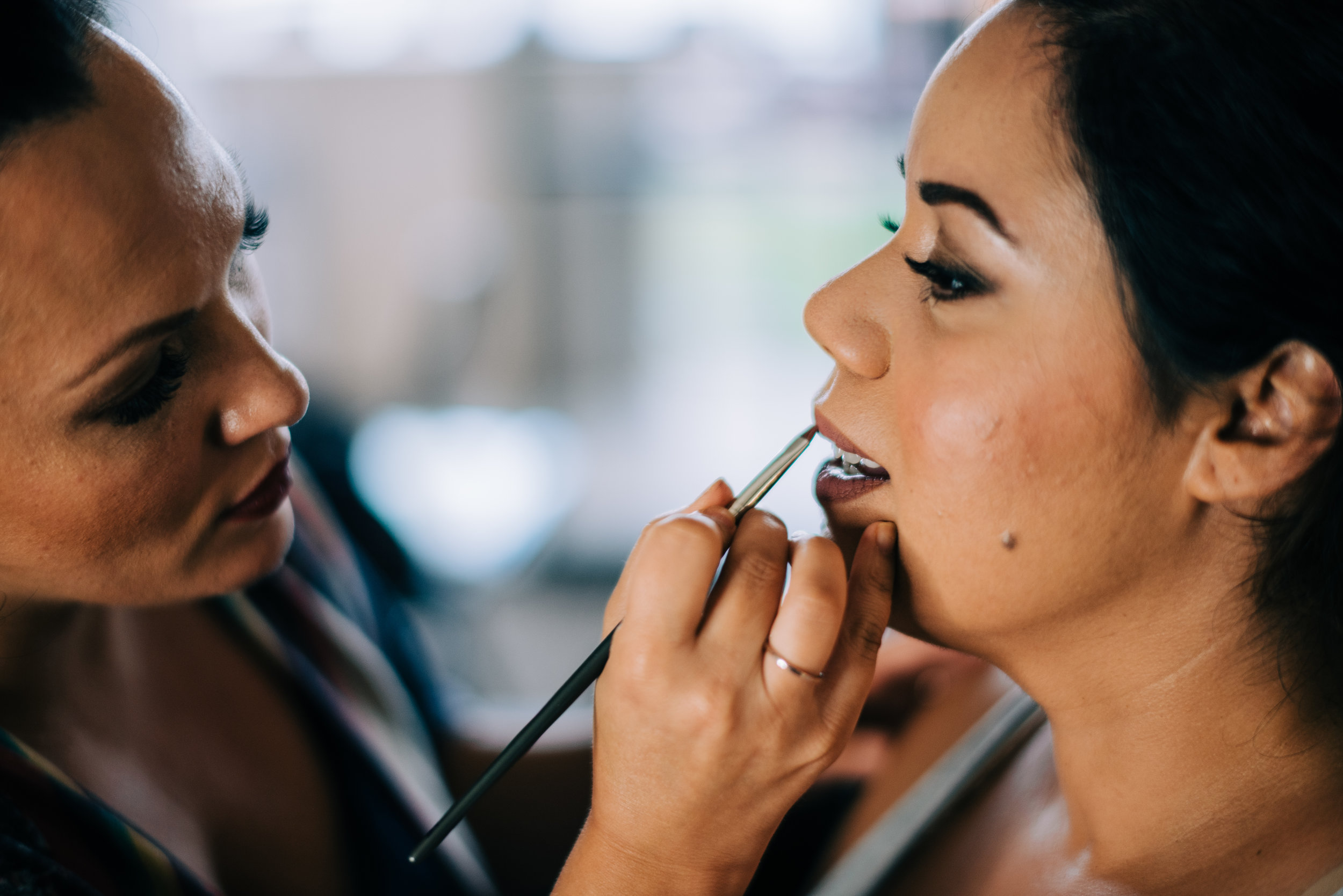 4 bride makeup bride lipstick before ceremony wedding makeup artist Life Design Events photos by Josh Snyder Photography.jpg