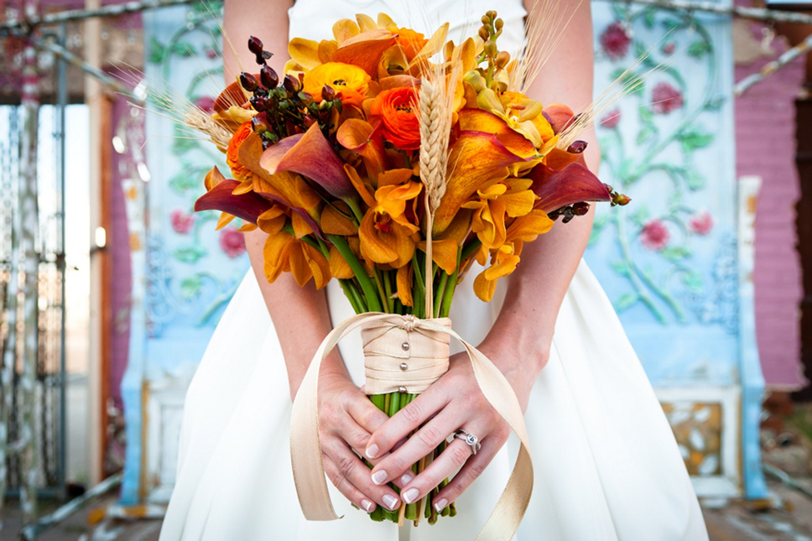 3 fall bridal bouquet orange and red floral bouquet bridal bouquet Kent Drake photography Life Design events.jpg