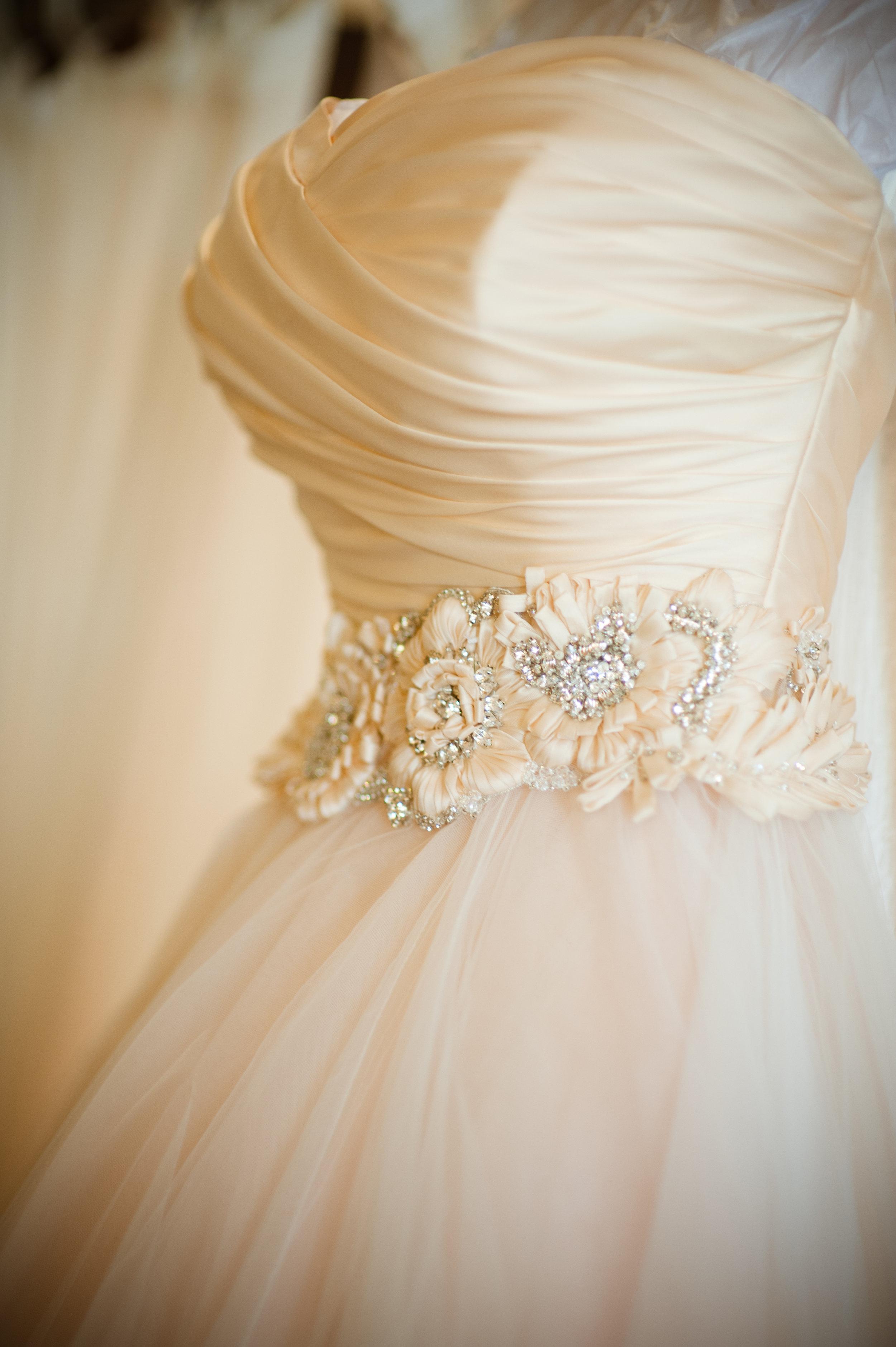 1 bridal gown elegant wedding dress white wedding dress detailed belt on wedding dress Christine Johnson Photography Life Design Events.jpg