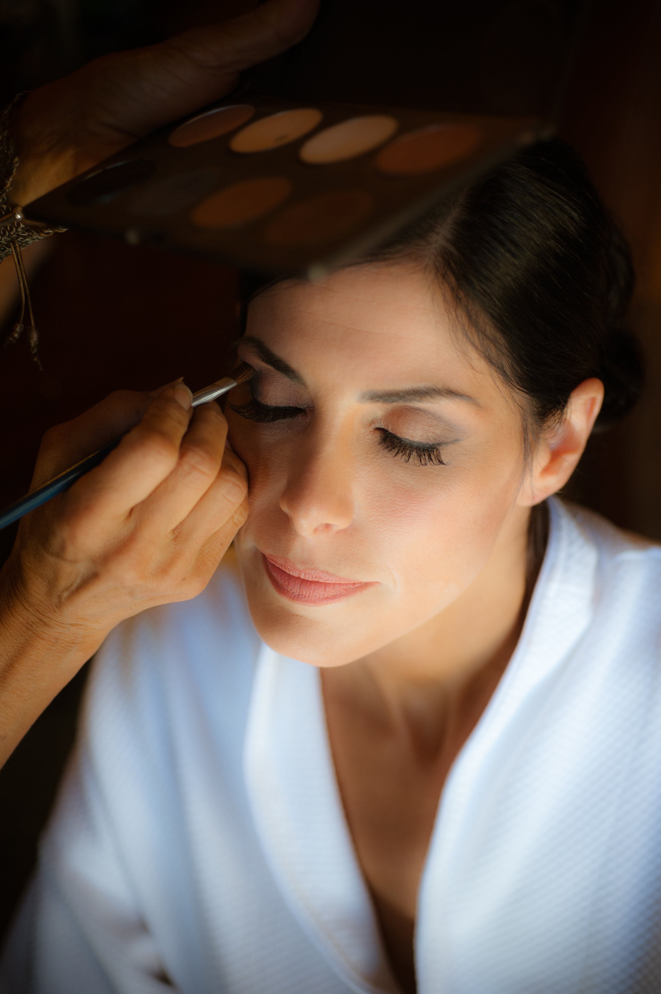 2 bride getting ready bride getting makeup done classic bride getting ready photos Christine Johnson Photography Life Design Events.jpg