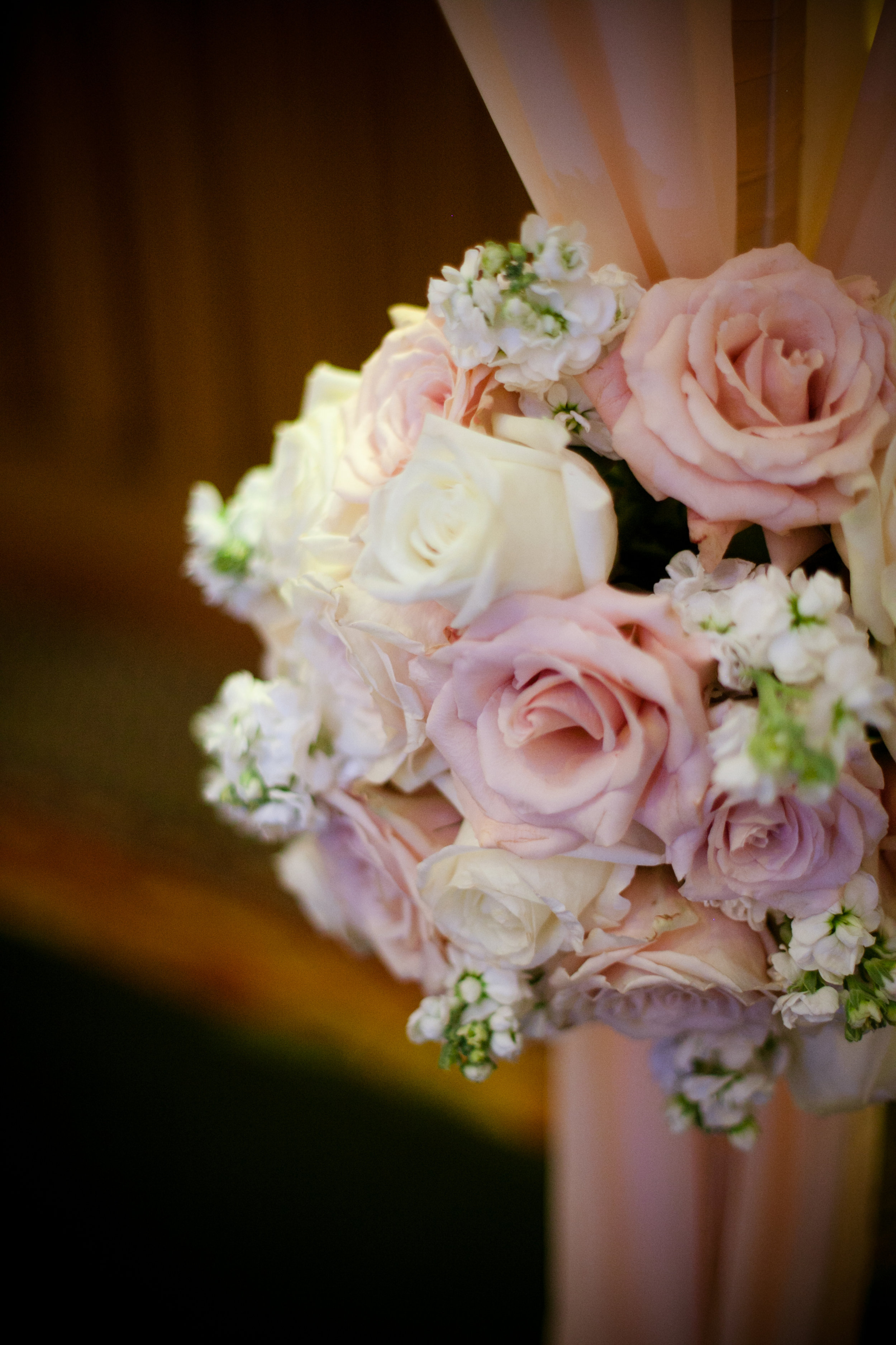 14 flowers on the chuppah pink and white roses pink and white florals ceremony decor Christine Johnson Photography Life Design Events.jpg
