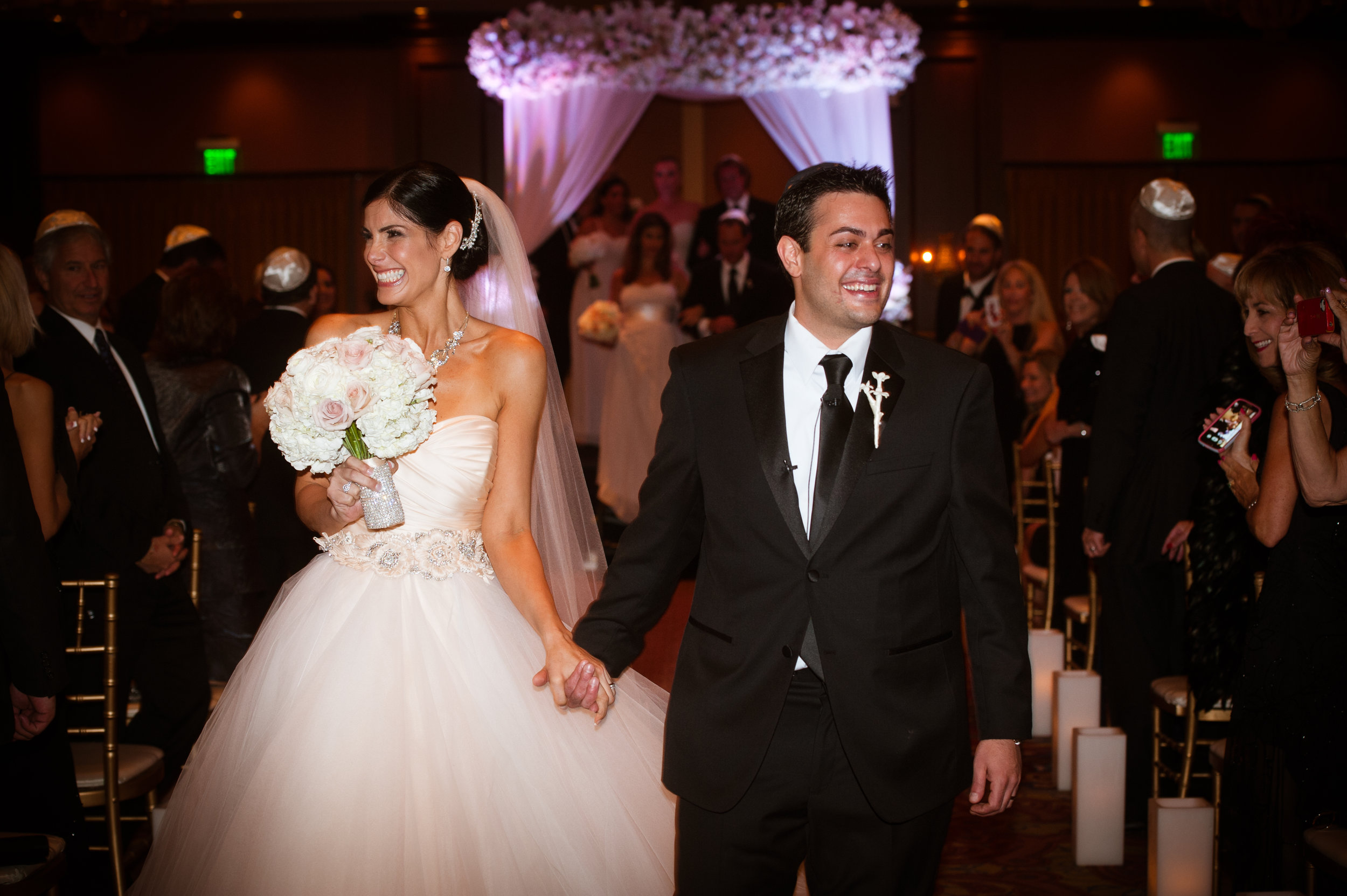18 bride and groom leaving ceremony officially married bride and groom going to reception Christine Johnson Photography Life Design Events.jpg
