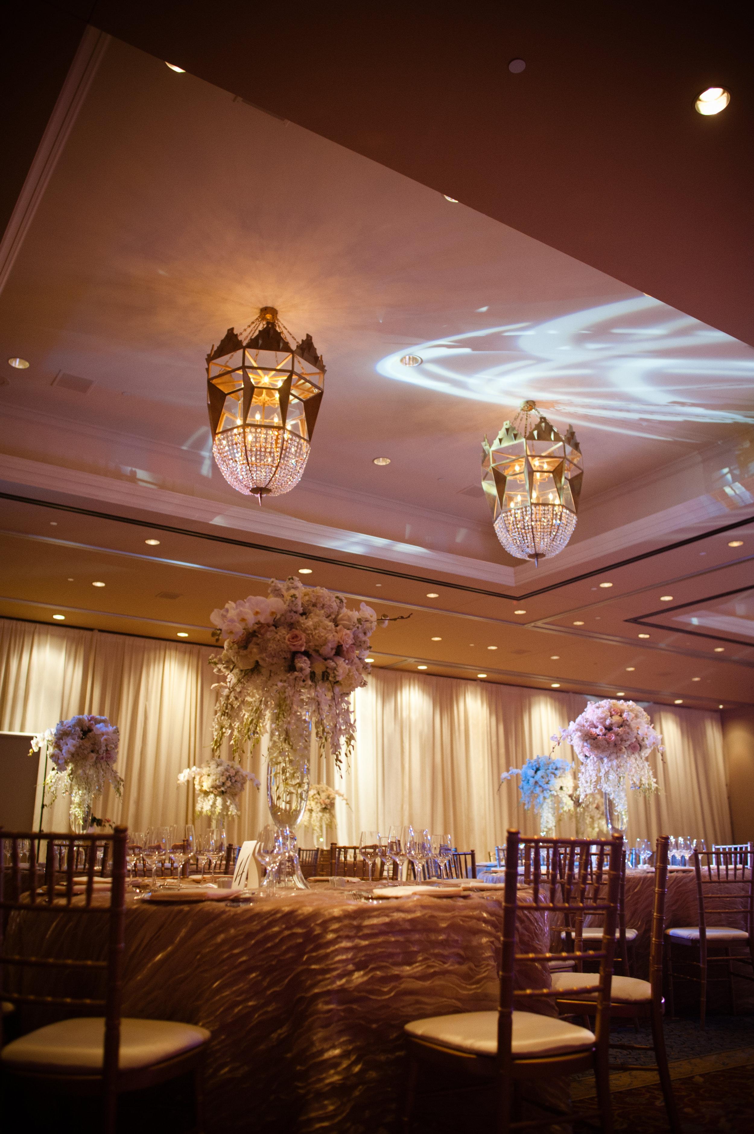 20 fancy wedding reception elegant wedding reception tall centerpieces Christine Johnson Photography Life Design Events.jpg