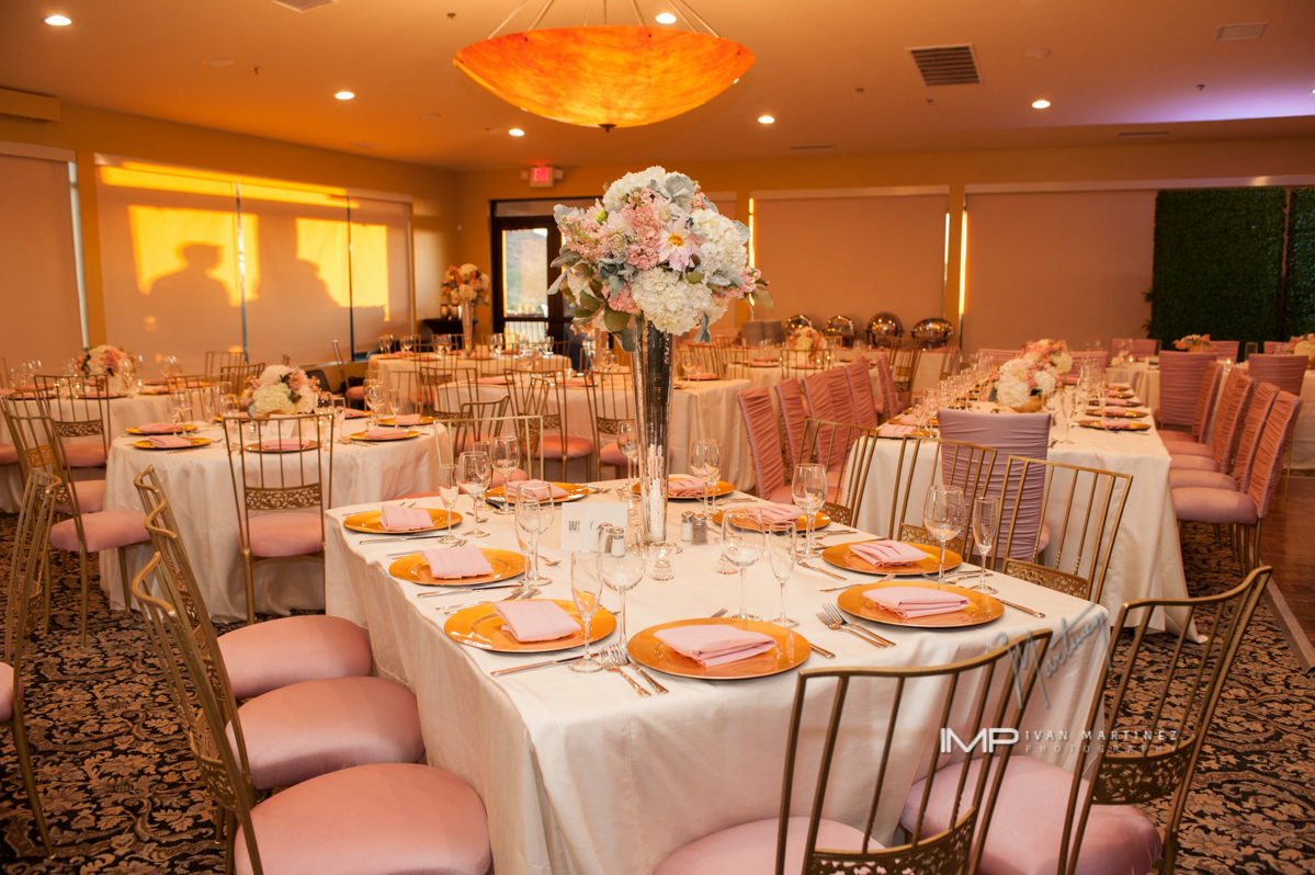 9 indoor reception pink and white reception colors tall floral centerpieces  Ivan Martinez Photography Life Design Events .JPG