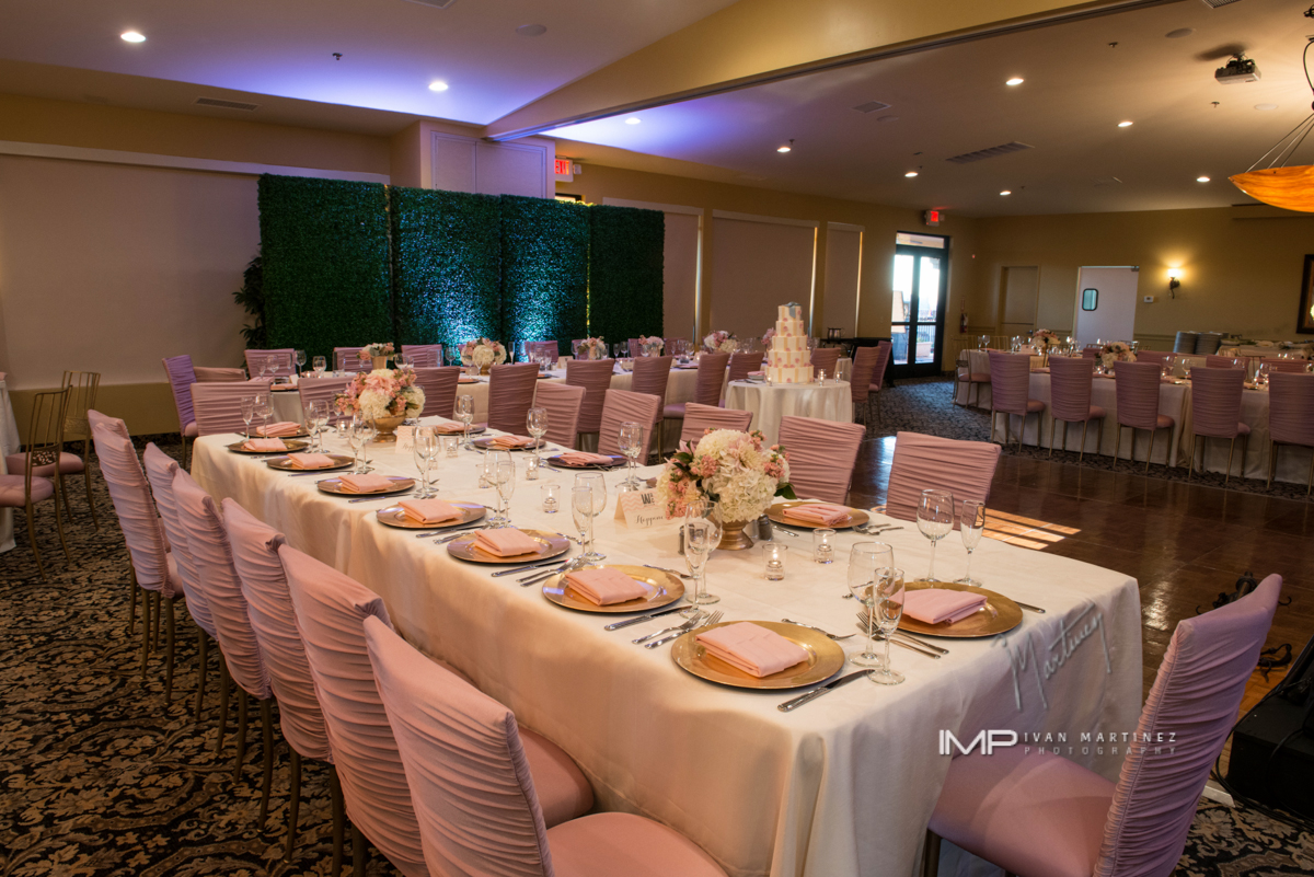 10 indoor reception pink and white reception colors tall floral centerpieces  Ivan Martinez Photography Life Design Events .JPG.JPG