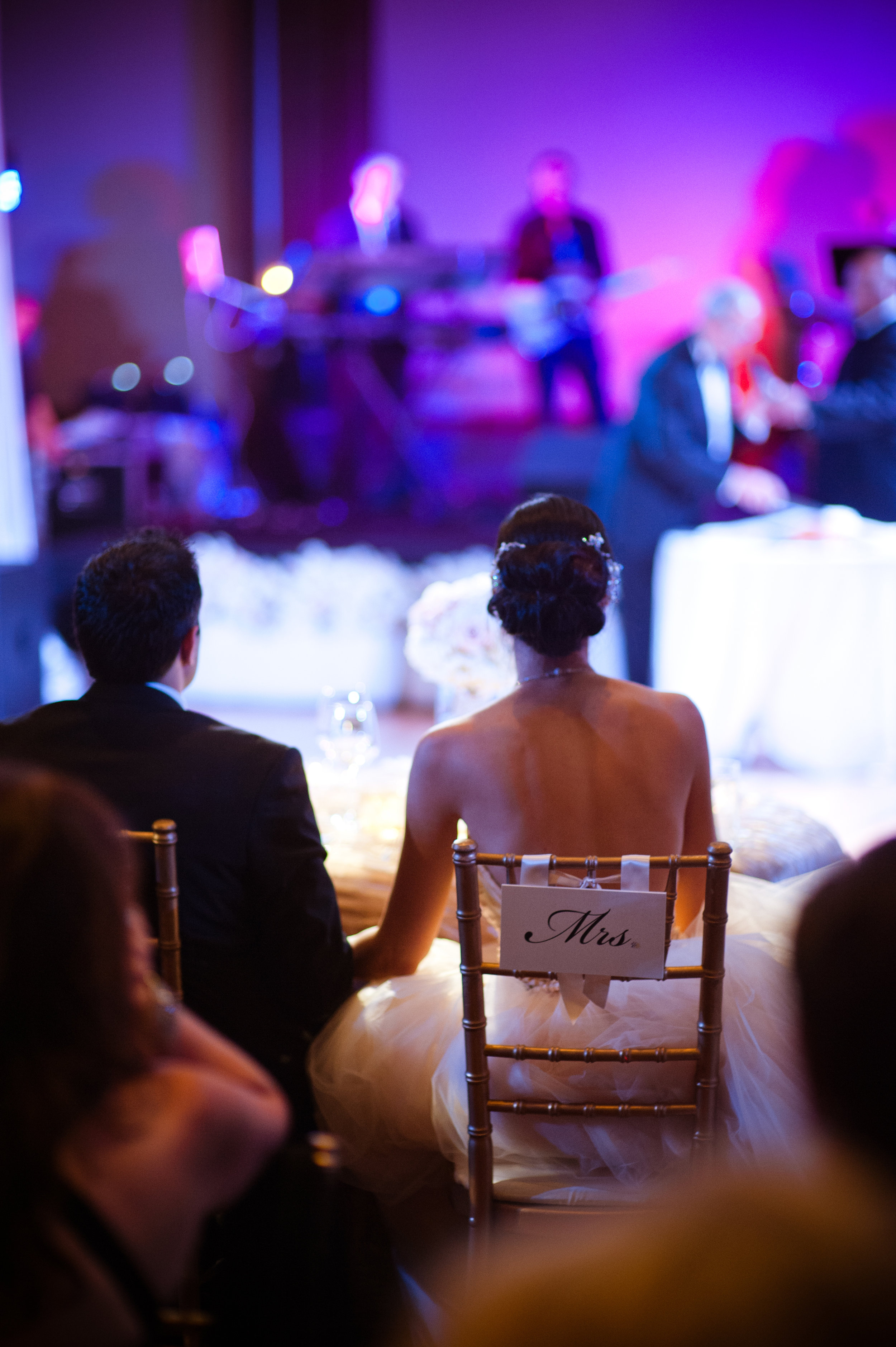 40 reception hall last name initial on the dance floor sweetheart table in the center Christine Johnson Photography Life Design Events.jpg