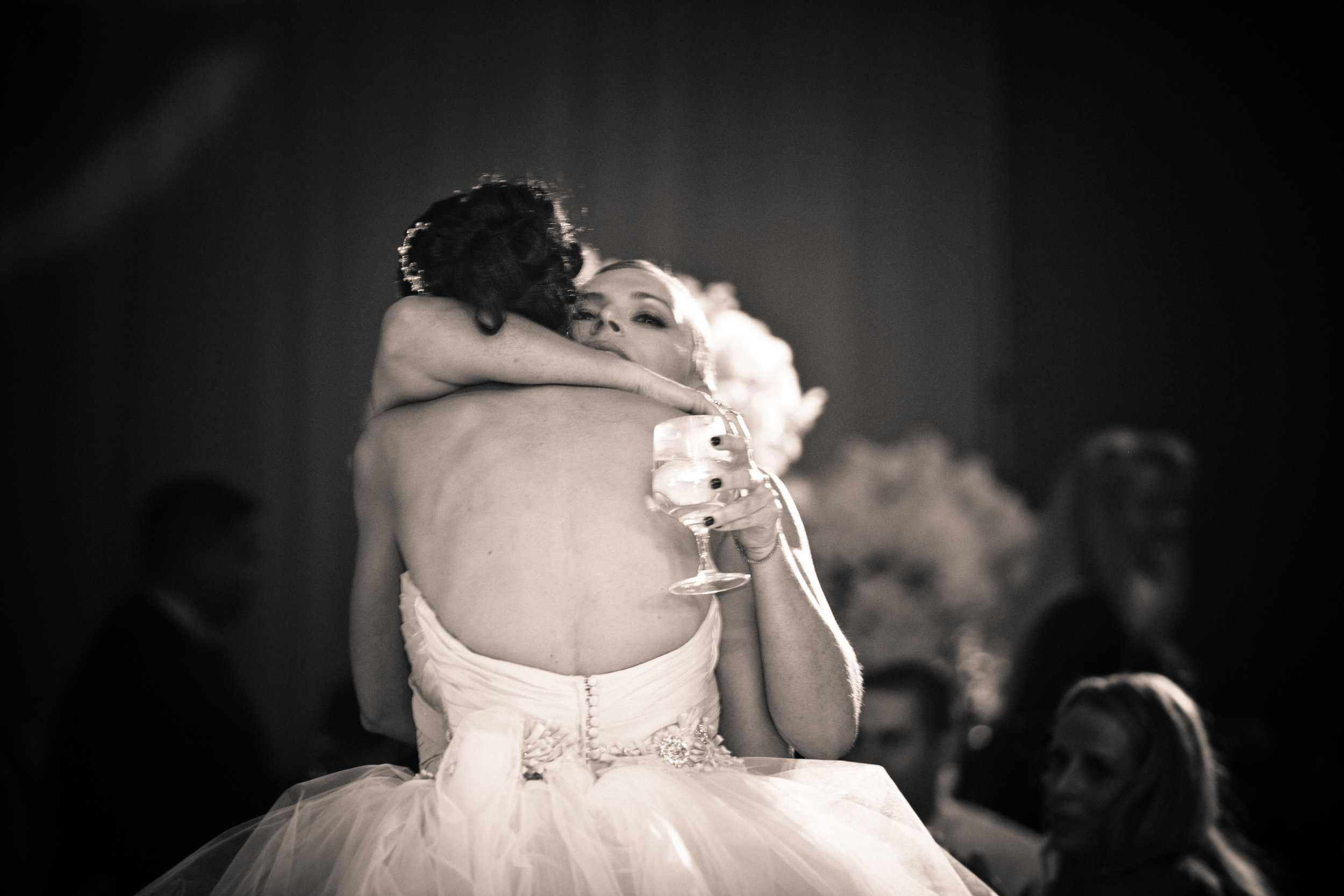 43 bride with guest bride on dance floor candid photo of bride Christine Johnson Photography Life Design Events.jpg