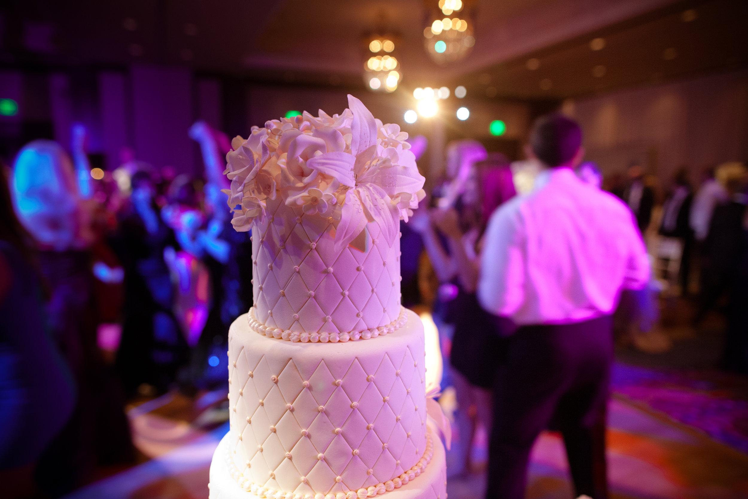 45   wedding cake closeup detailed wedding cake simple wedding cake all white wedding cake flowers on wedding cake Christine Johnson Photography Life Design Events.jpg