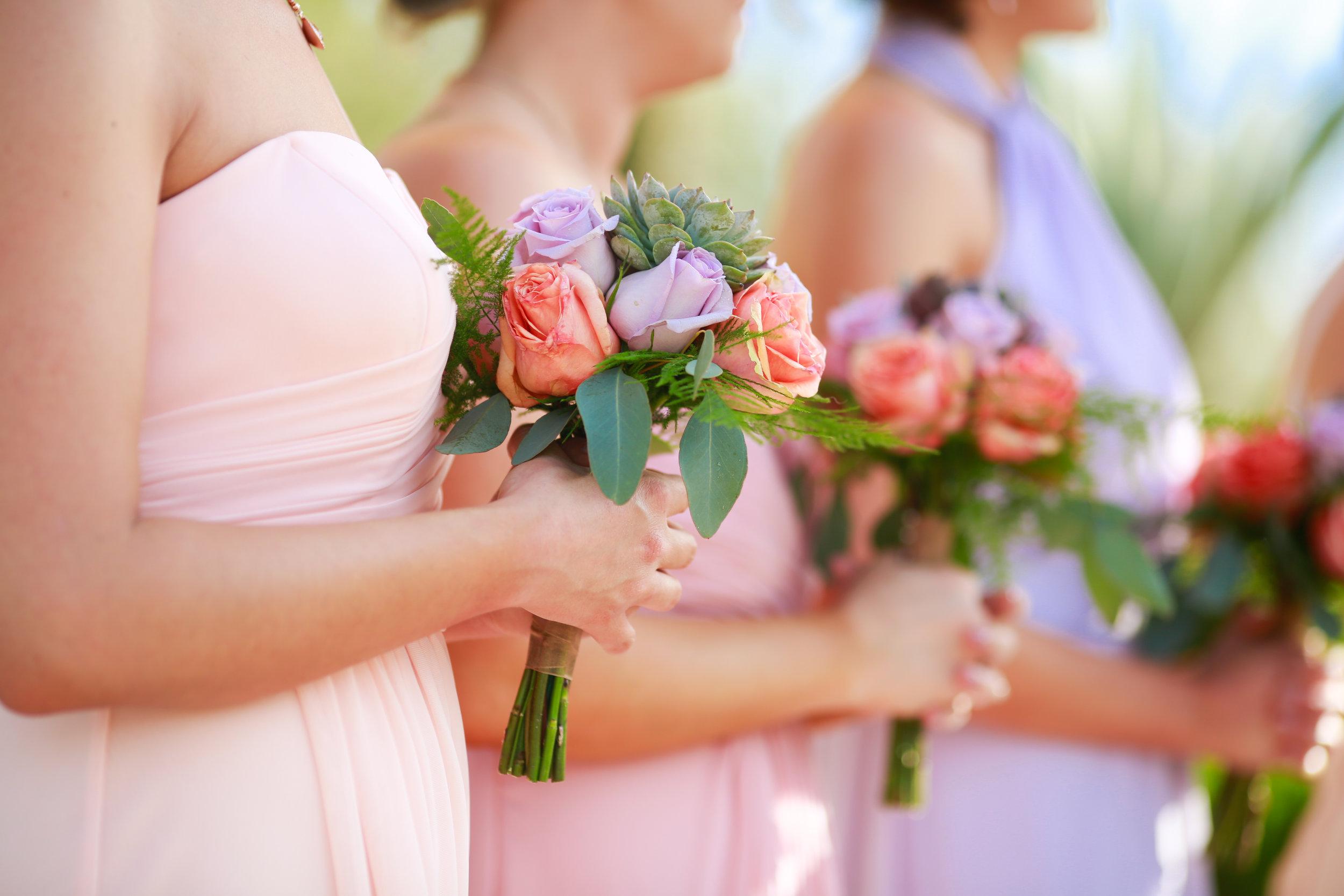 13 brides maids pink brides maid dresses purple bridesmaid dresses pink and purple rose bouquet bridesmaid bouquets spring bouquets Mod Wed Photography Life Design Events .jpg
