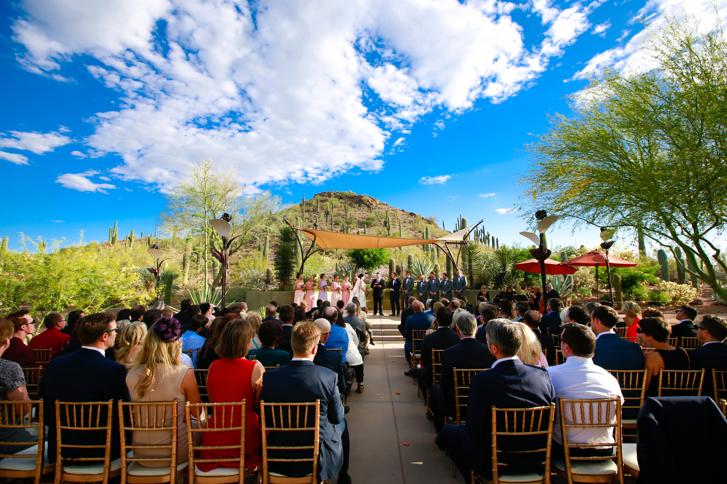 15 outdoor wedding ceremony spring wedding simple outdoor wedding bride and groom at the alter Mod Wed Photography Life Design Events.jpg