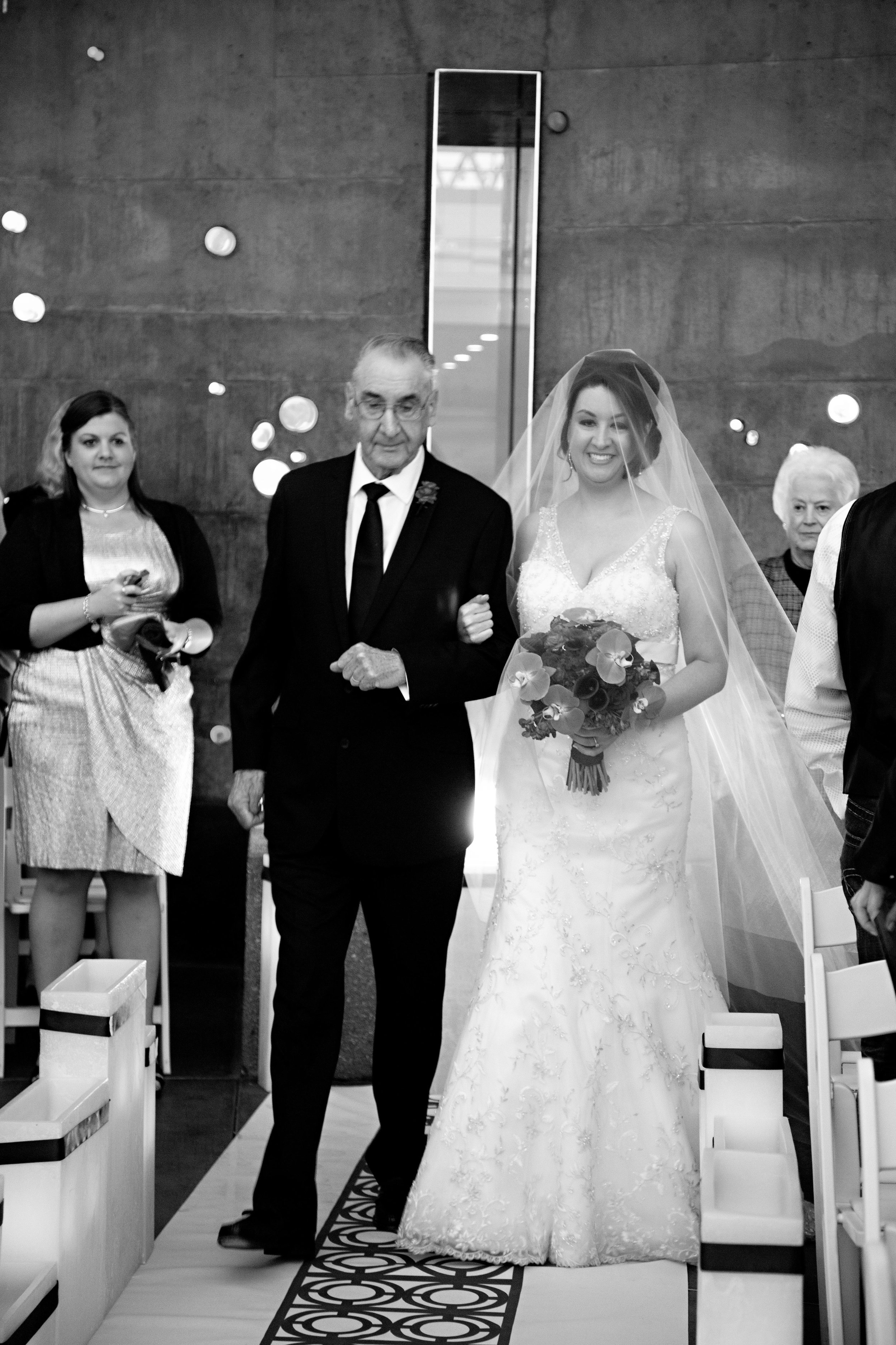 13 bride and father walking down the aisle father giving the bride away O Grace Photography Life Design Events.jpg