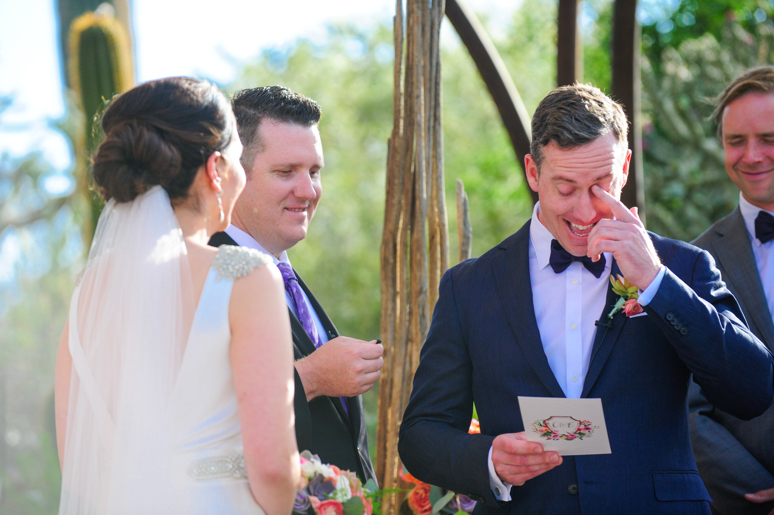 16 bride and groom vows bride and groom at the alter bride and groom exchanging vows Mod Wed Photography Life Design Events.jpg
