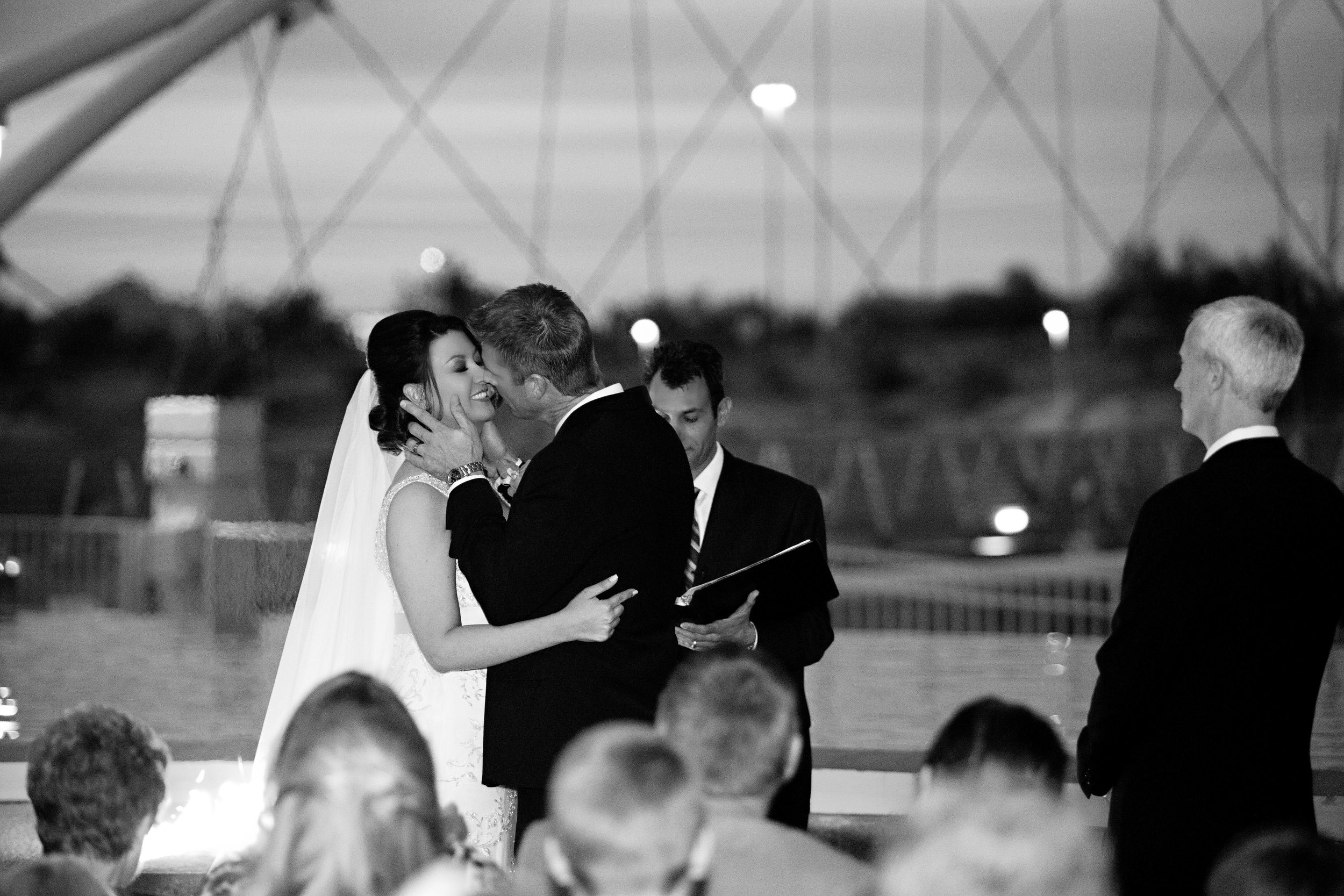 17 bride and groom first kiss bride and groom at ceremony officially mr and mrs O Grace Photography Life Design Events.jpg
