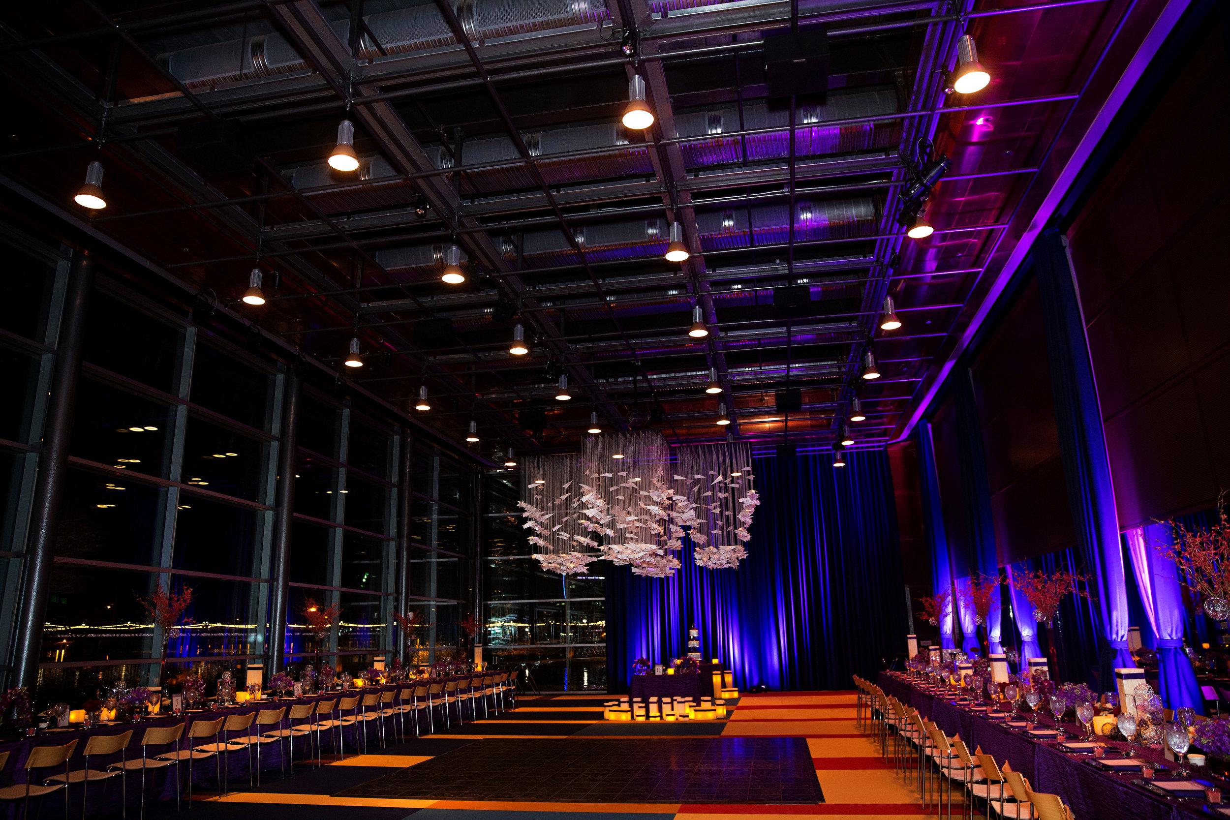 18 unique wedding reception large wedding reception hall purple reception all purple wedding decor O Grace Photography Life Design Events.jpg