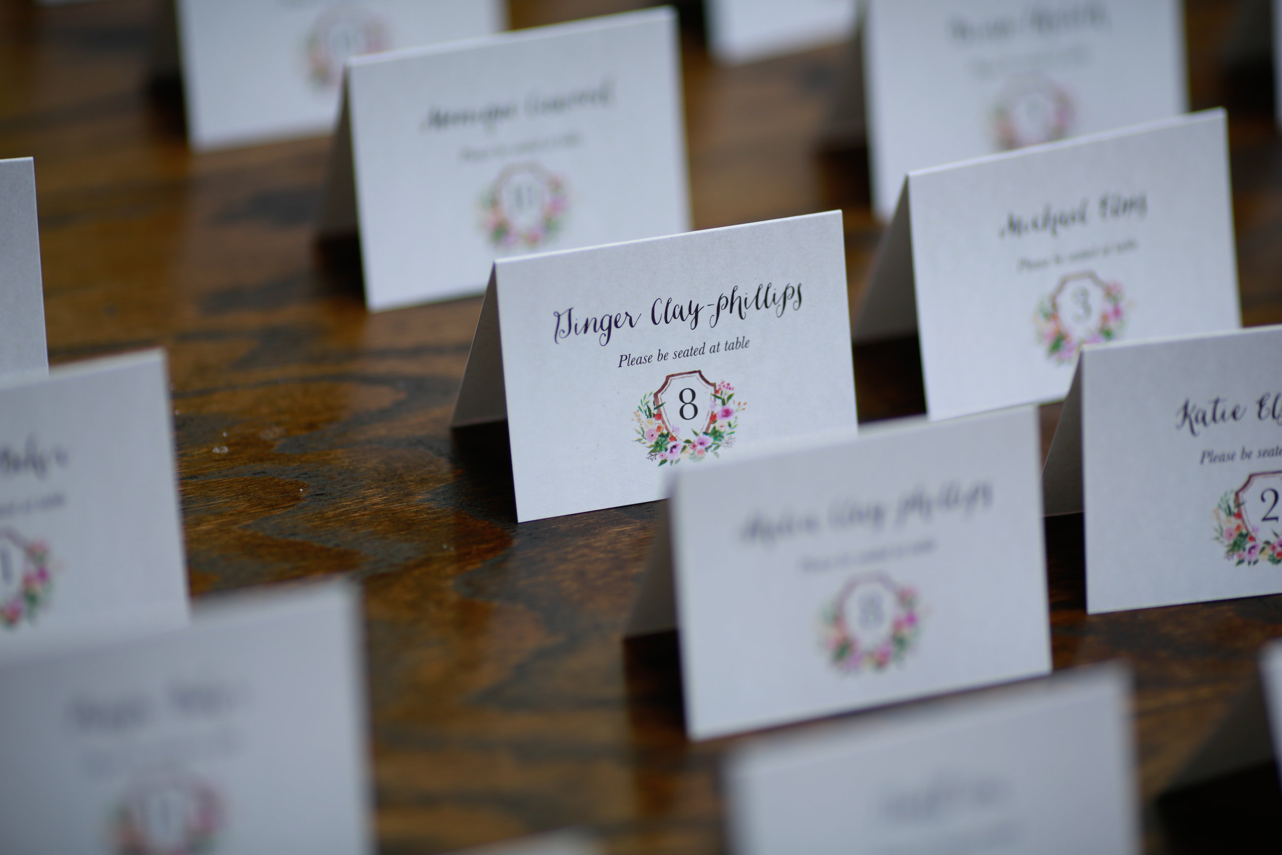 25 Place cards spring place cards floral place cards Mod Wed Photography Life Design Events .jpg