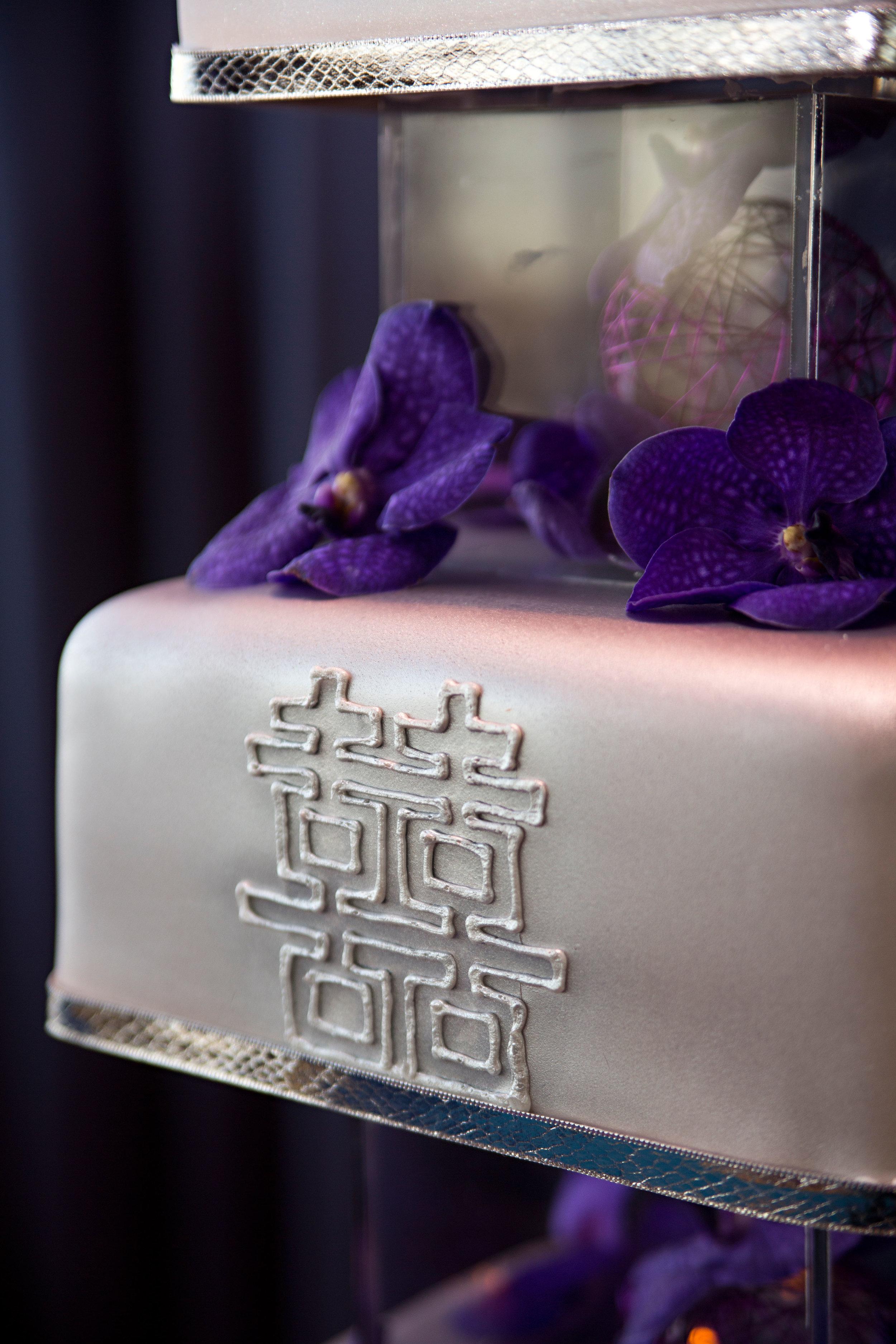 32 silver wedding cake unique wedding cake three tier wedding cake silver and purple wedding cake.jpg