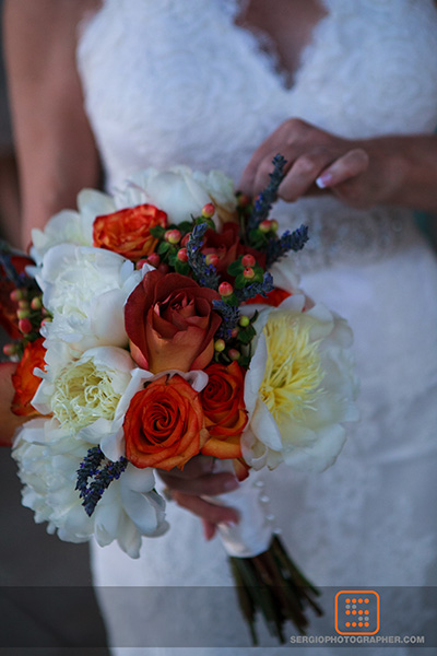 5 simple wedding bouquet spring wedding bouquet  orange and white bridal bouquet Sergio Photography Life Design Events.jpg
