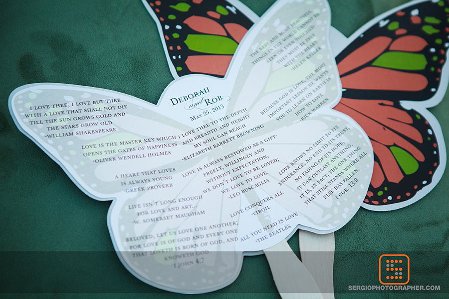 13 butterfly programs butterfly fans unique wedding programs unique wedding fans Sergio Photography Life Design Events.jpg