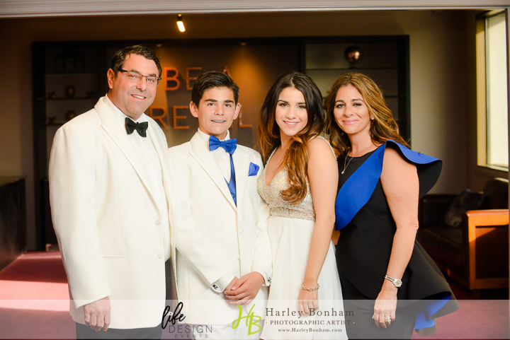 4 family photos bar mitzvah photos family poses black white and blue family colors Harley Bonham Photography Life Design Events.jpg