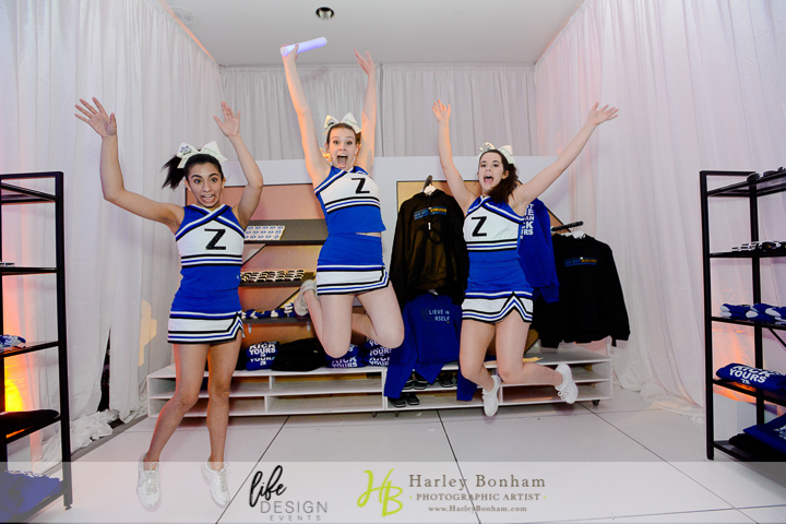 36 cheerleaders at bar mitzvah unique entertainment at bar mitzvah fun entertainment at bar mitzvah personalized cheerleader outfits for party Harley Bonham Photography Life Design Events.jpg