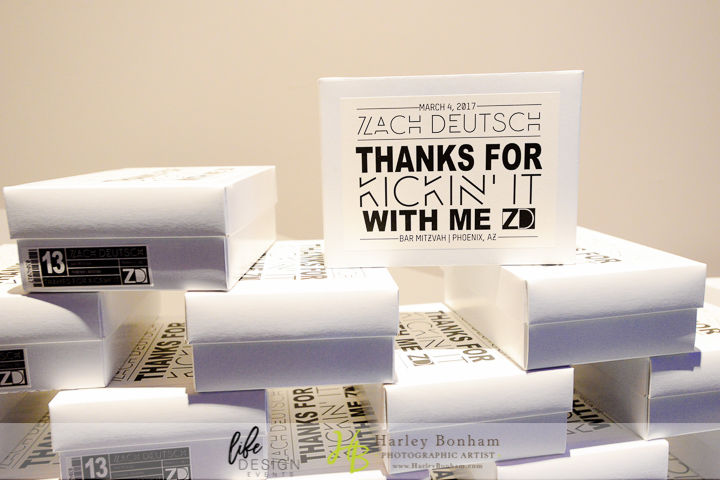 38 thank you for coming gifts goodie bags at bar mitzvahs party favors at bar mitzvah personalized bar mitzvah favors Harley Bonham Photography Life Design Events.jpg