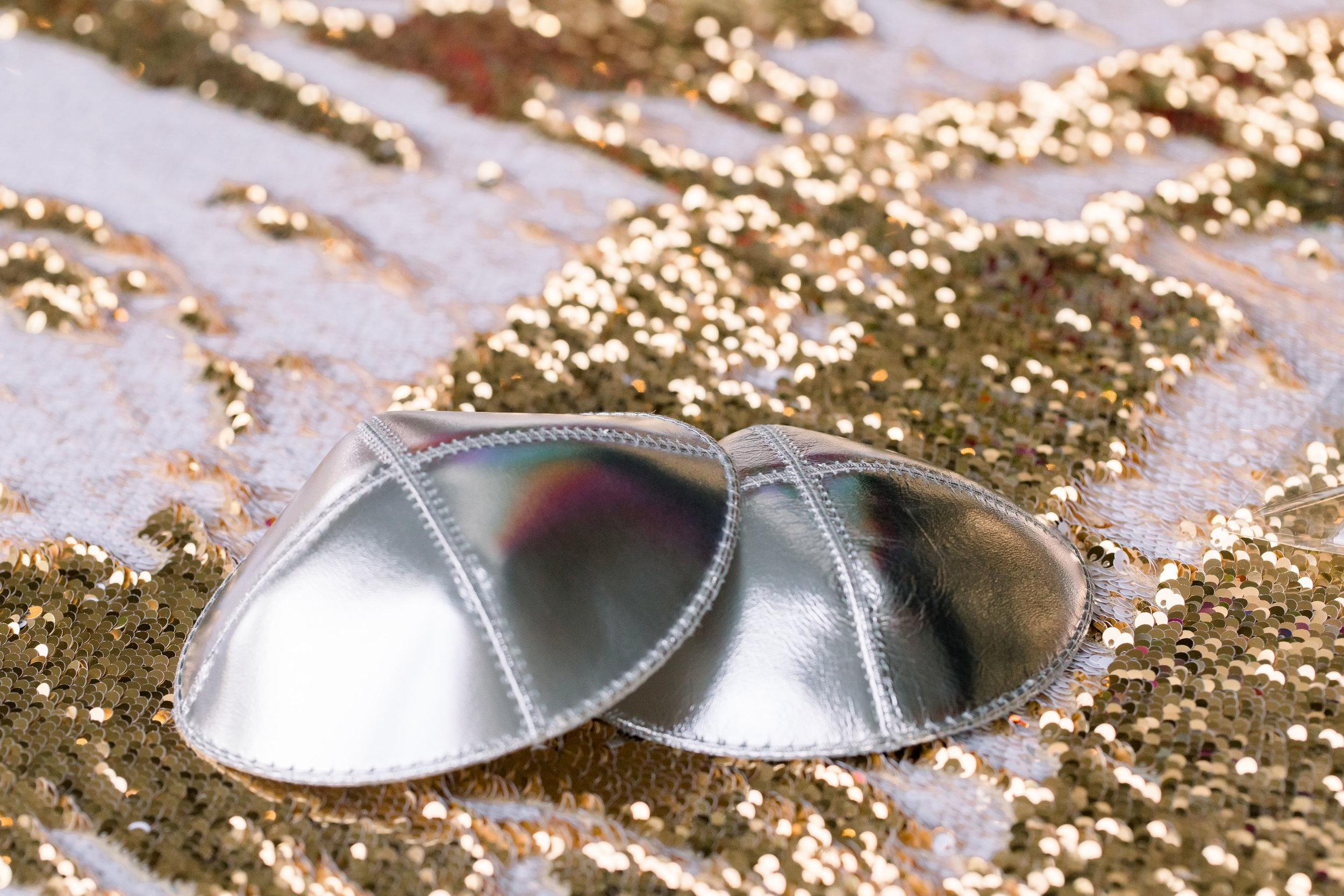 3 kippah silver custom kippah sequin mermaid linen bat mitzvah Life Design Events photos by Stephanie Heymann Photography.jpg