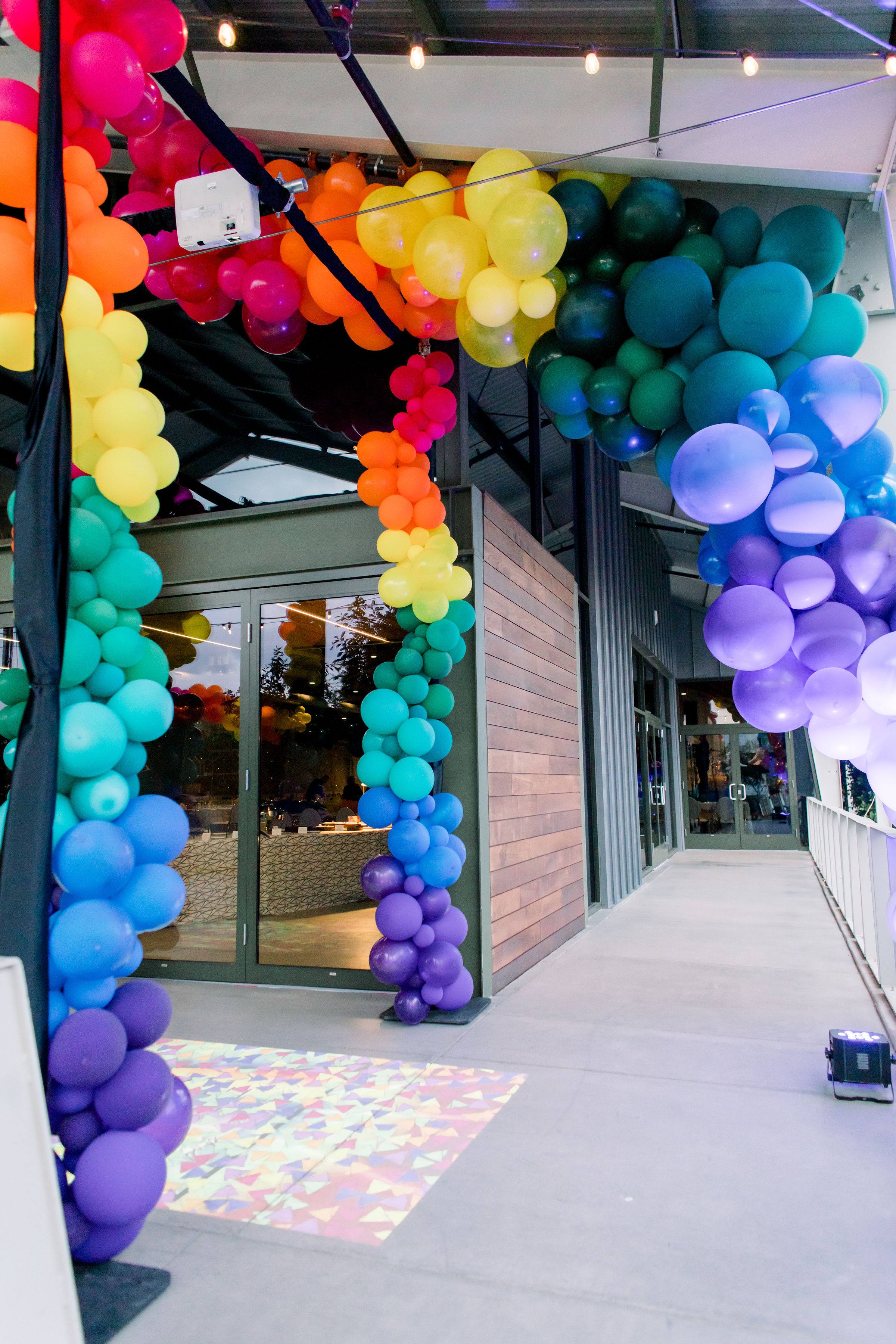 7 rainbow balloon arch organic rainbow balloon garland party balloon garland Life Design Events photos by Stephanie Heymann Photography.jpg