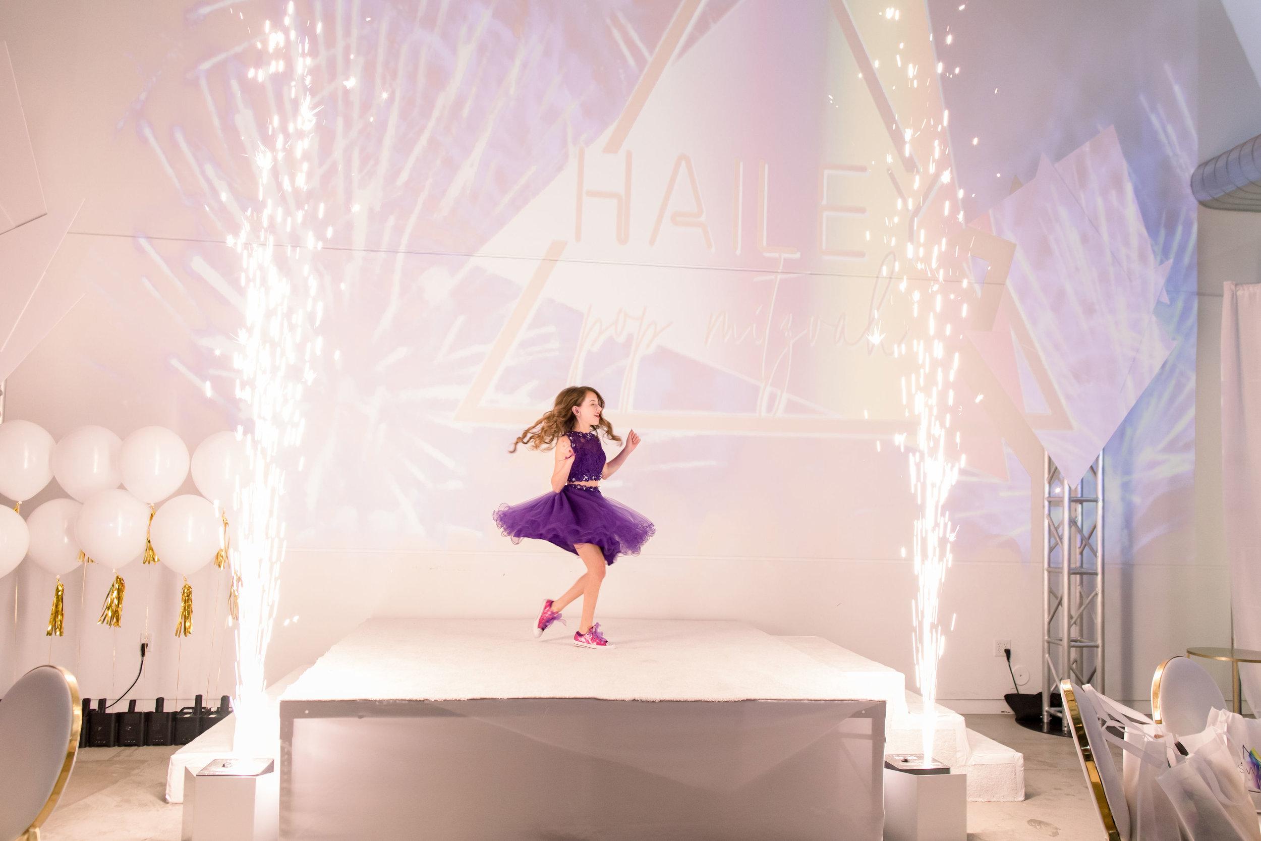 32 bat mitzvah grand entrance purple tulle skirt sparkle geyser rainbow bat mitzvah Life Design Events photos by Stephanie Heymann Photography.jpg