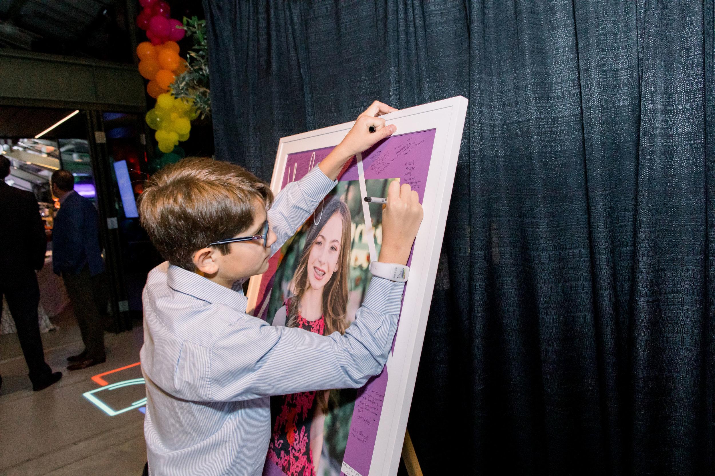 47 bat mitzvah guest book signed poster rainbow bat mitzvah party Life Design Events photos by Stephanie Heymann Photography.jpg