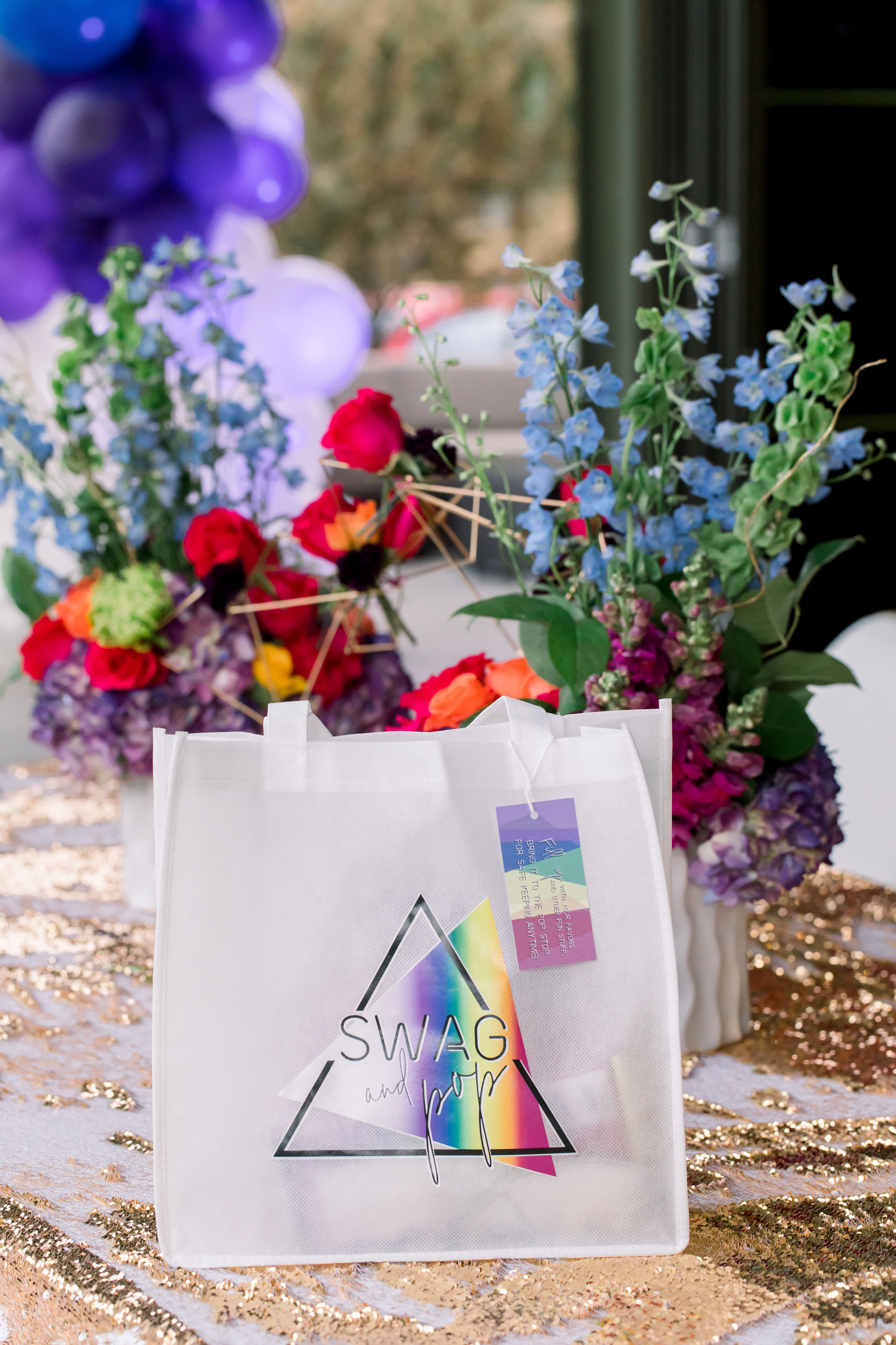 48 swag bag guest gift bag custom tote personalized logo rainbow bat mitzvah Life Design Events photos by Stephanie Heymann Photography.jpg