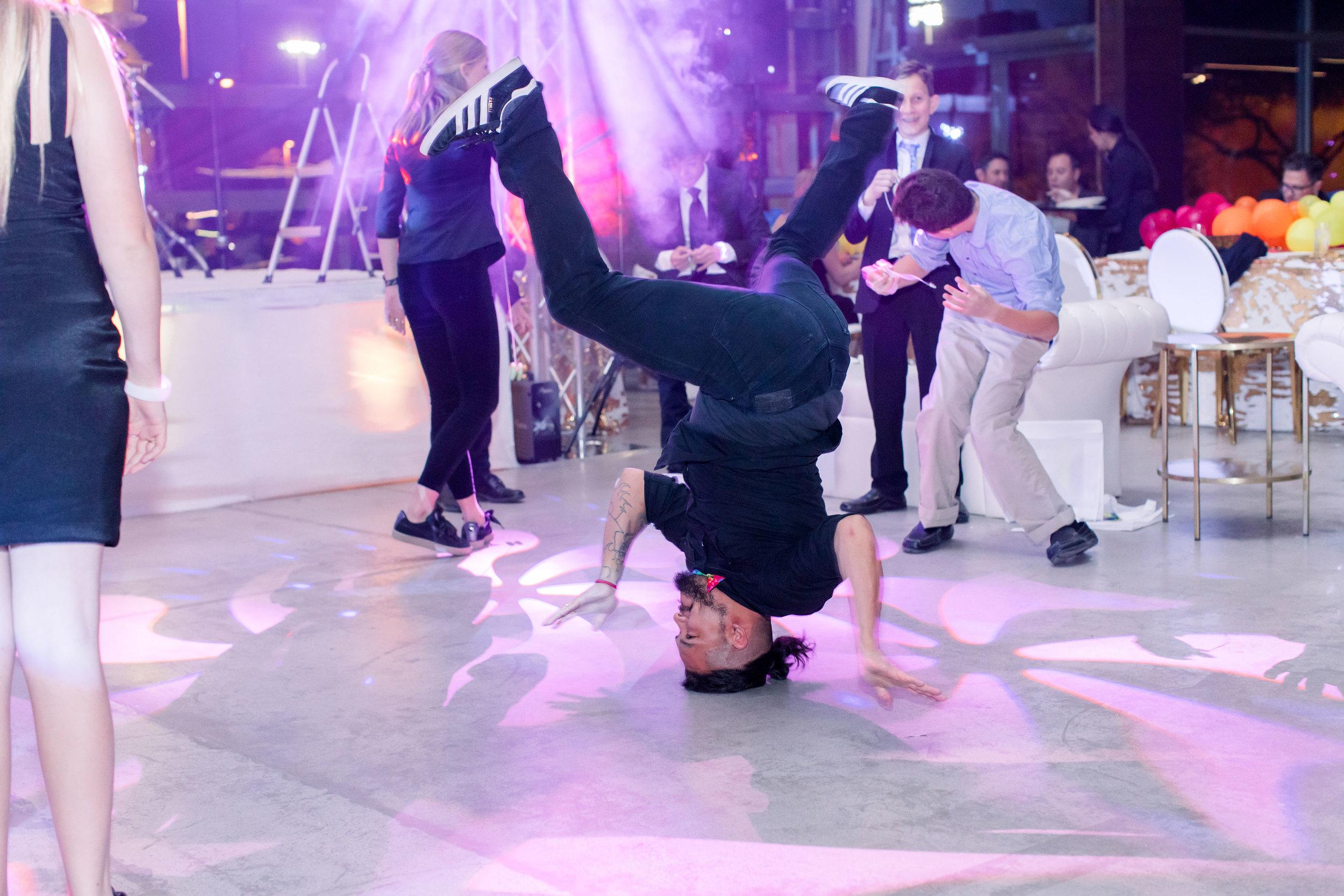 61 rainbow bat mitzvah party head spin dancer dance party Life Design Events photos by Stephanie Heymann Photography.jpg