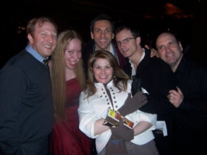 "With the cast and creative team of ""[title of show]"" while working on Broadway"